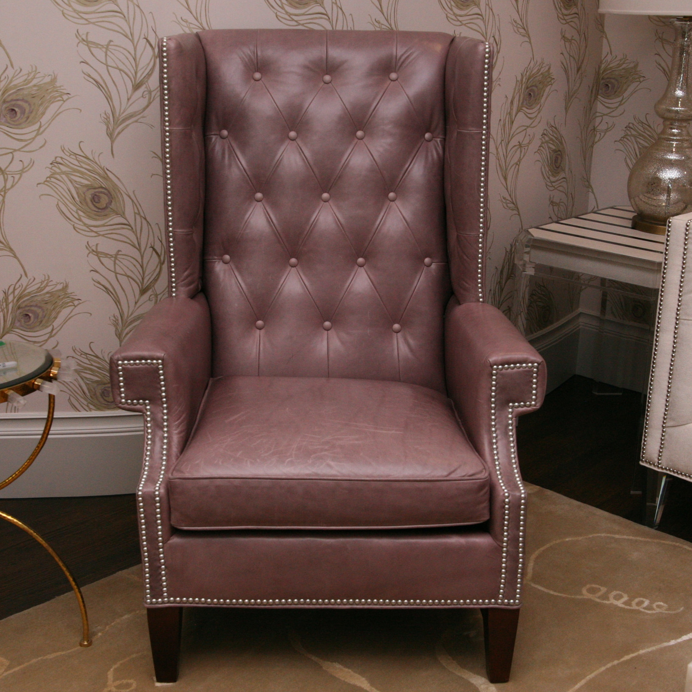 """""""Gavin"""" Wingback  Leather Chair from C.R Laine"""