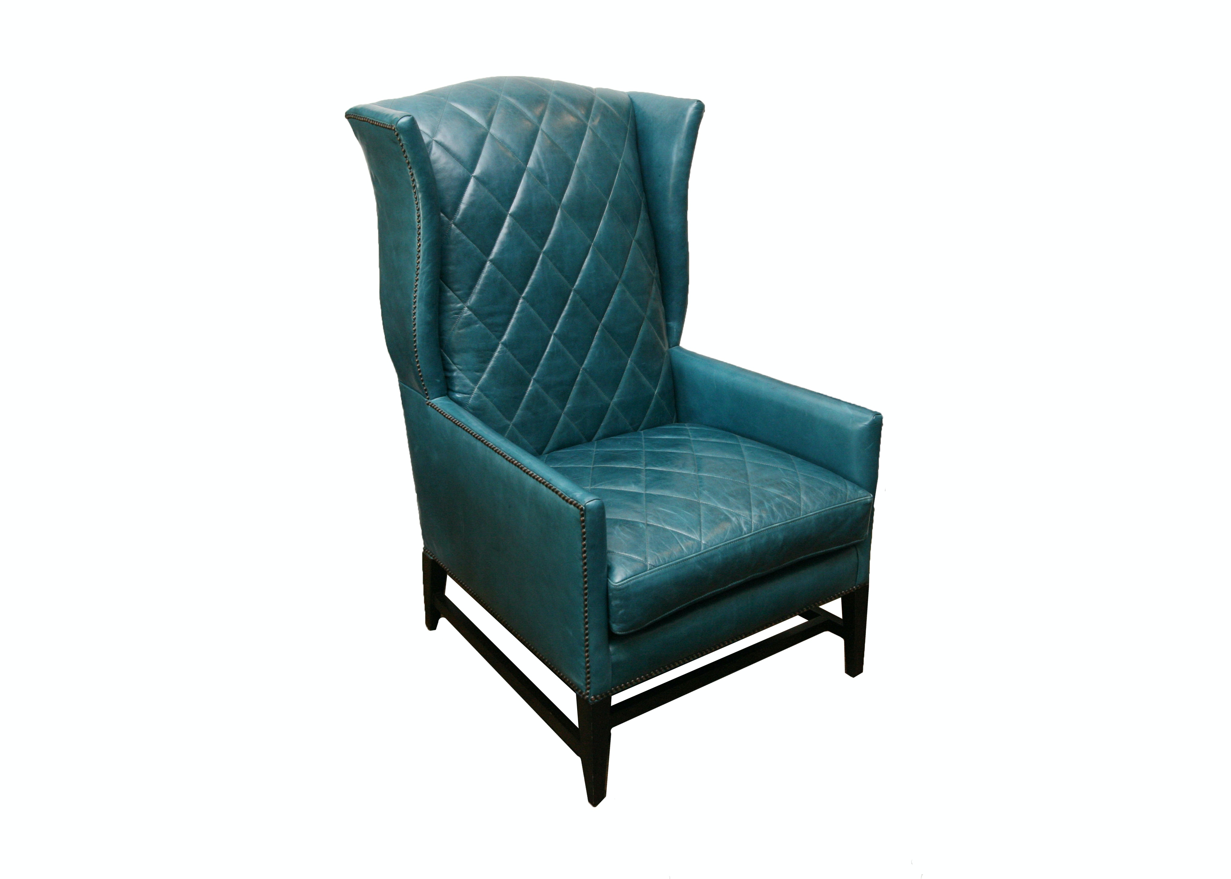 Leather Wingback Armchair by Century