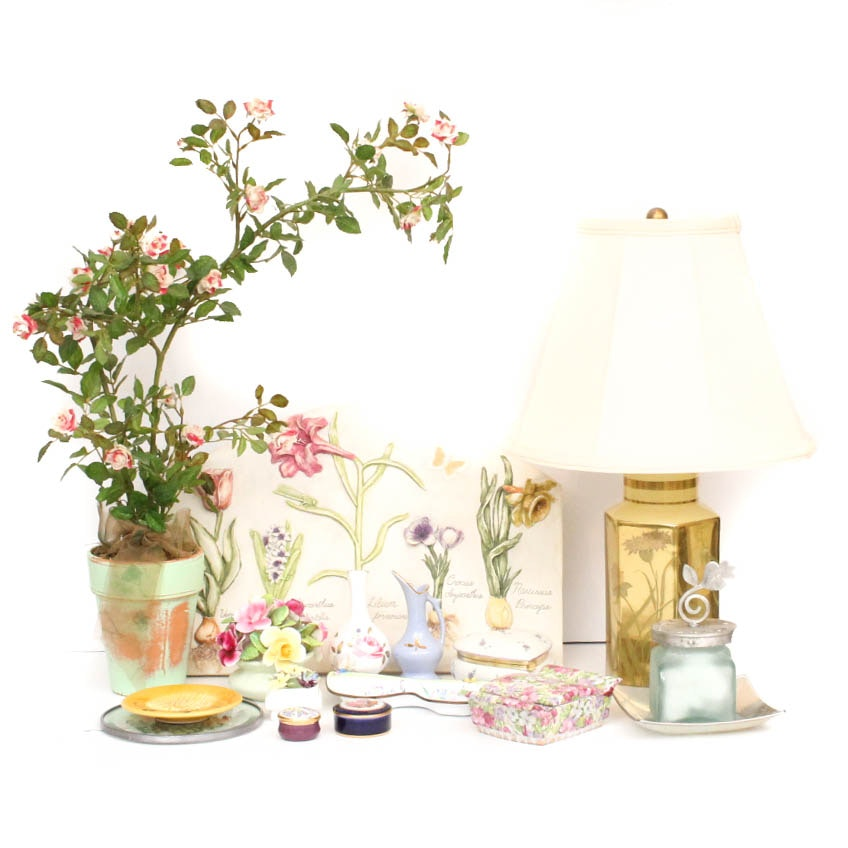 Floral Home Decor Featuring Limoges