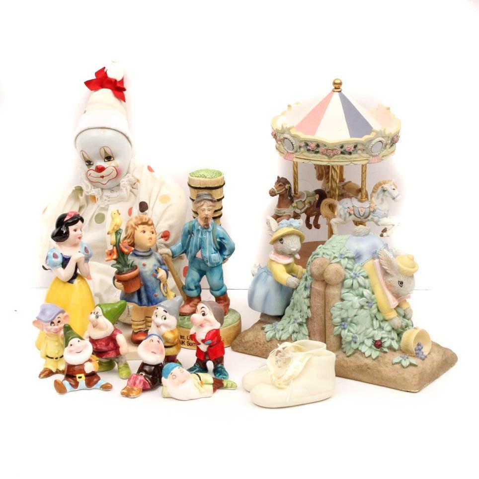 Children's Figurines Featuring Hummel and Disney