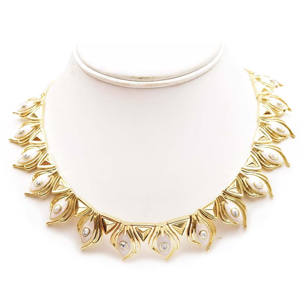 House of Harlow Gold Tone Choker
