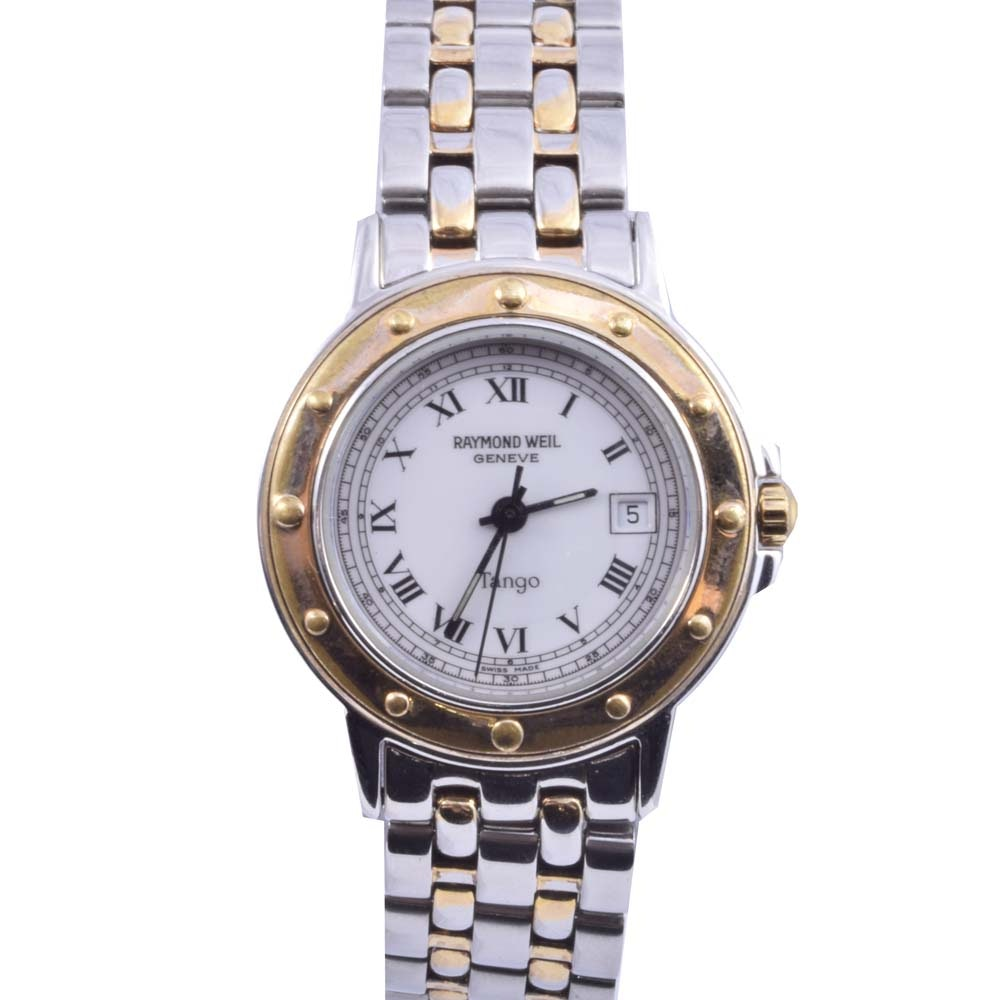 Raymond Weil Tango Stainless Steel and 18K Yellow Gold Plated Wristwatch