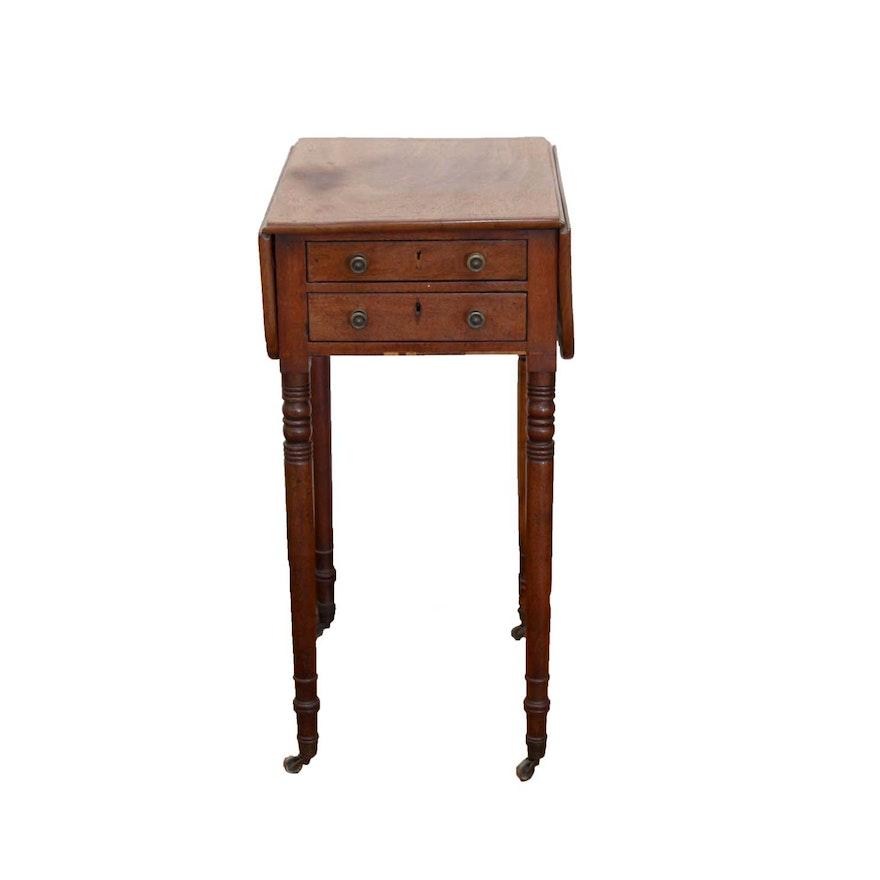 Antique Drop Leaf Side Table