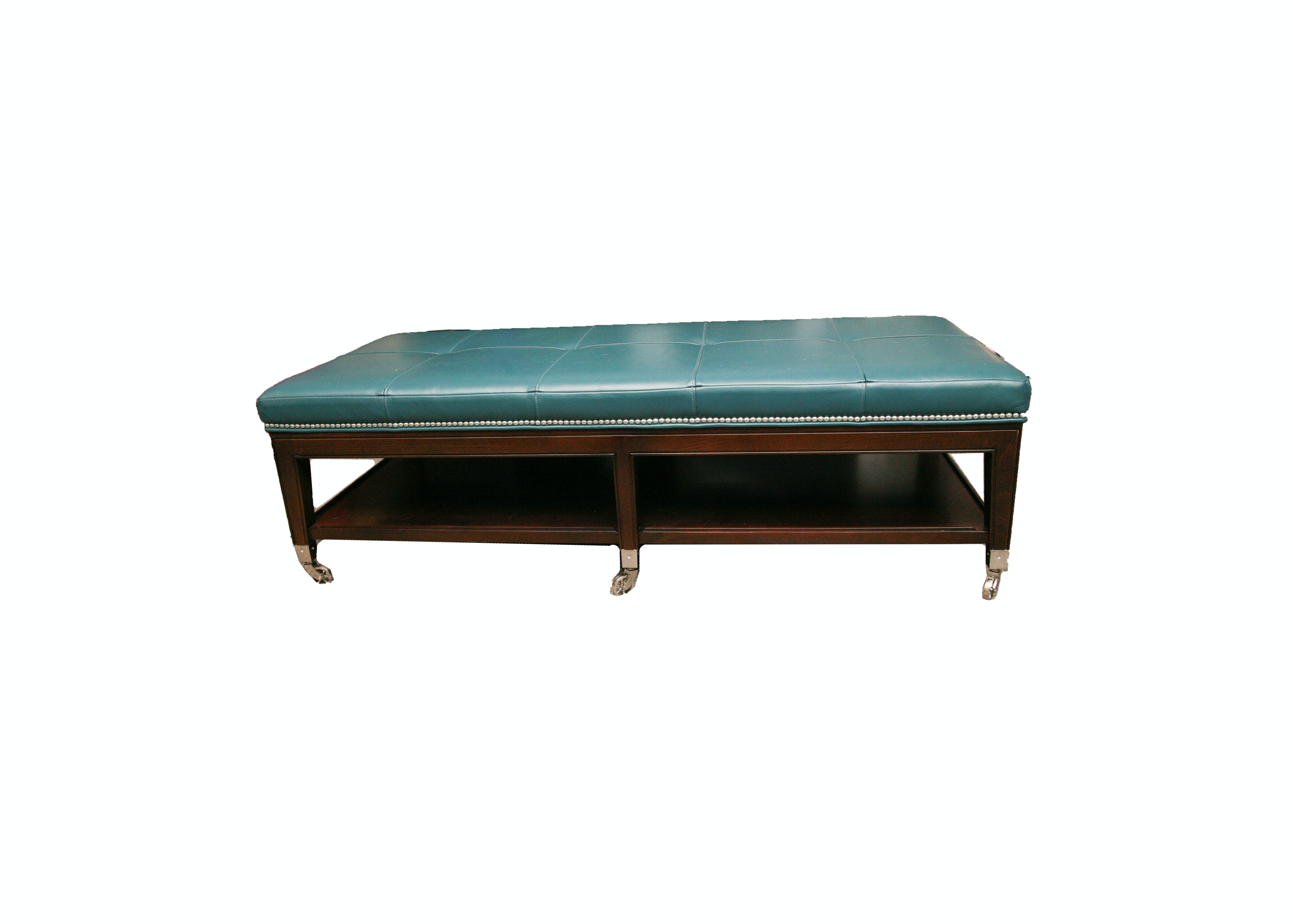 Contemporary Faux Leather Coffee Table by Micheal Weiss