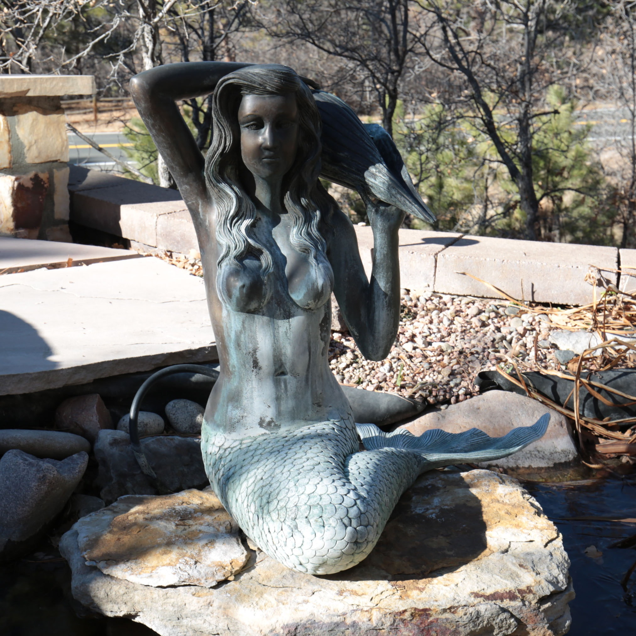 Attributed To Barrel U0026 Garden Bronze Mermaid Fountain Sculpture ...