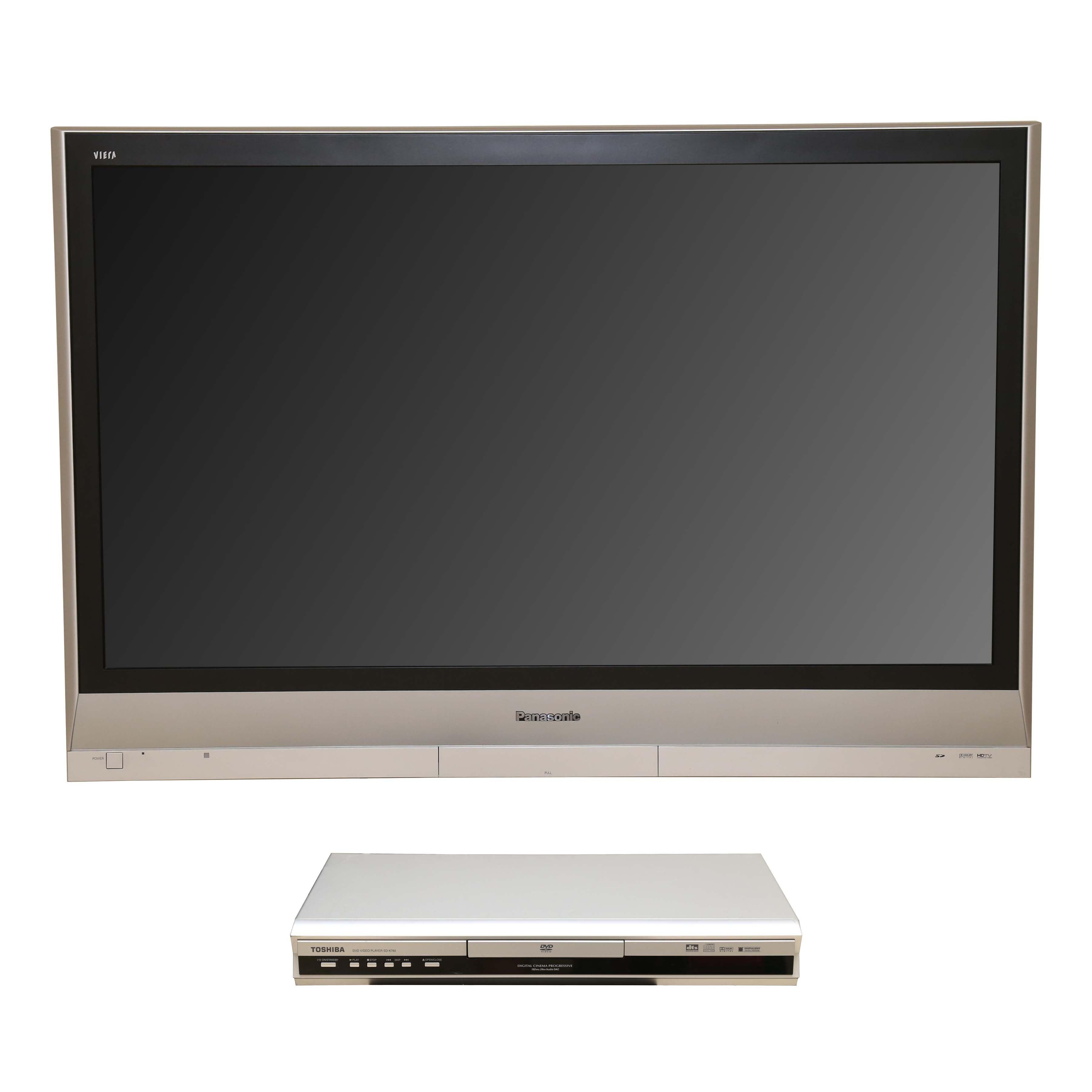 "Panasonic 50"" Television and Toshiba DVD Player"