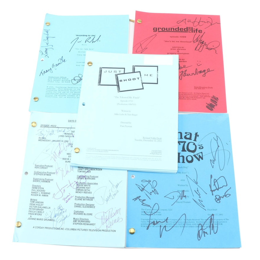 autographed tv scripts featuring days of our lives and that 70s