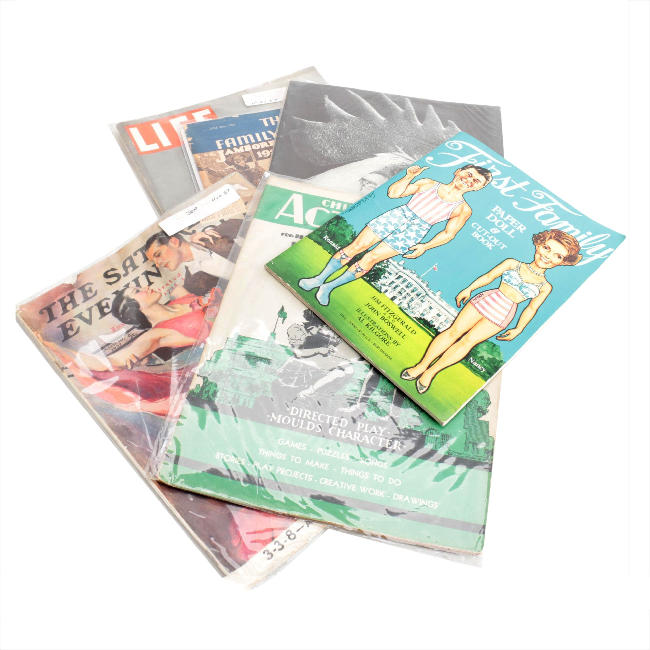 Vintage Magazines and Reagan Paper Dolls