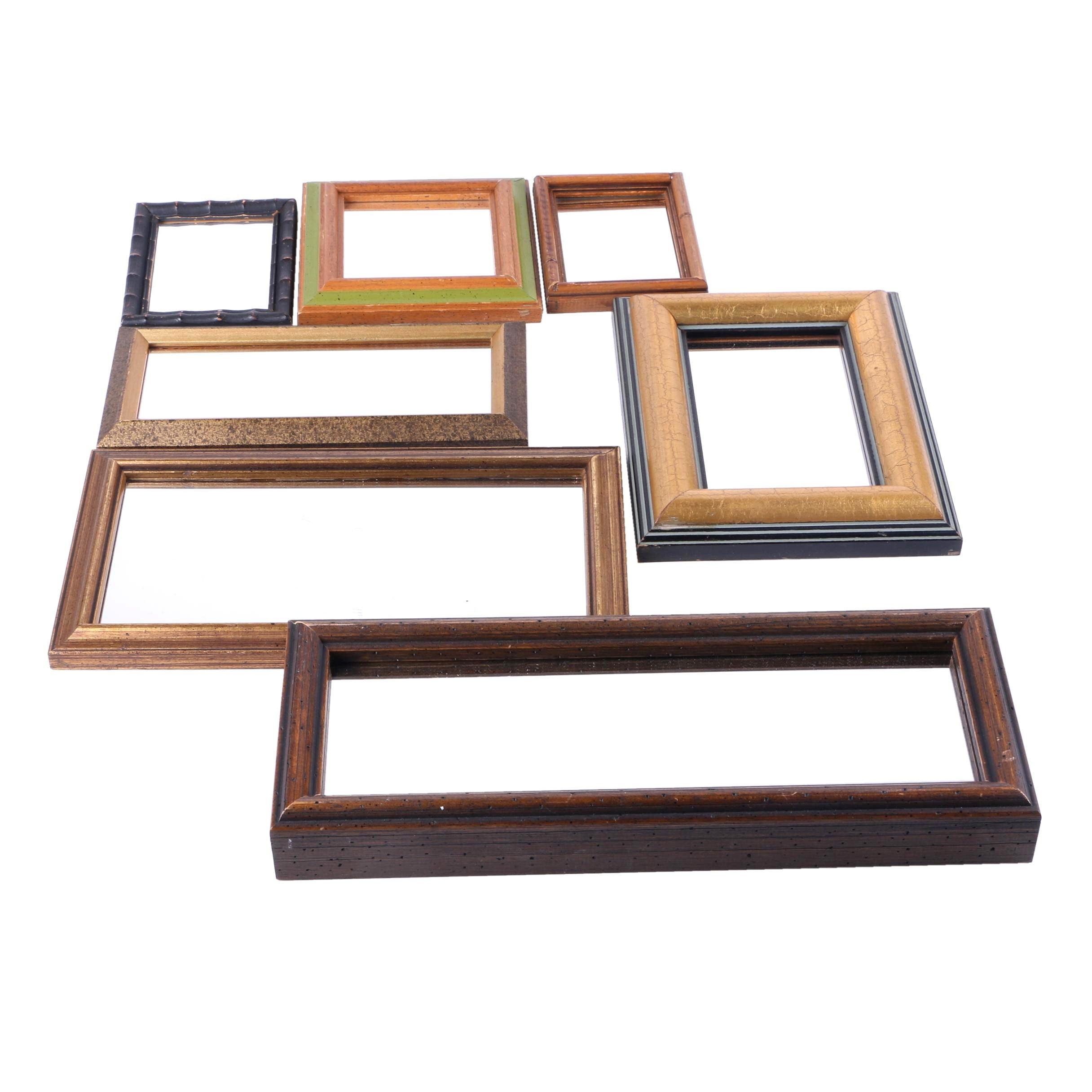 Assorted Wood Framed Wall Mirrors