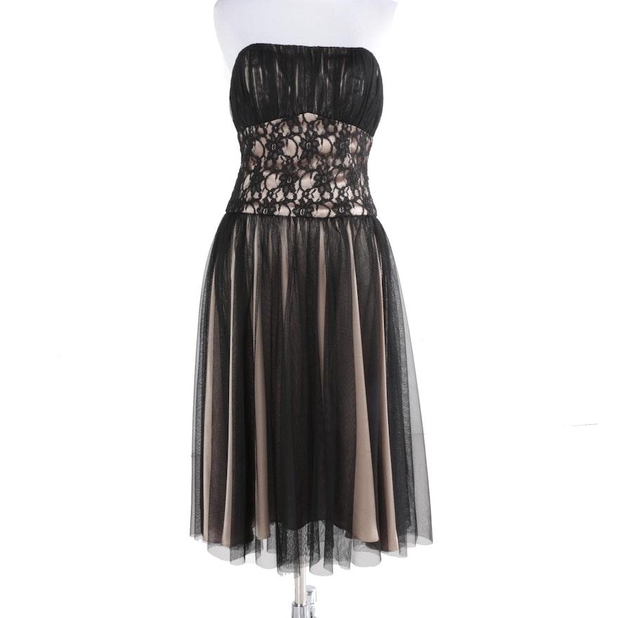 White House Black Market Strapless Dress Ebth