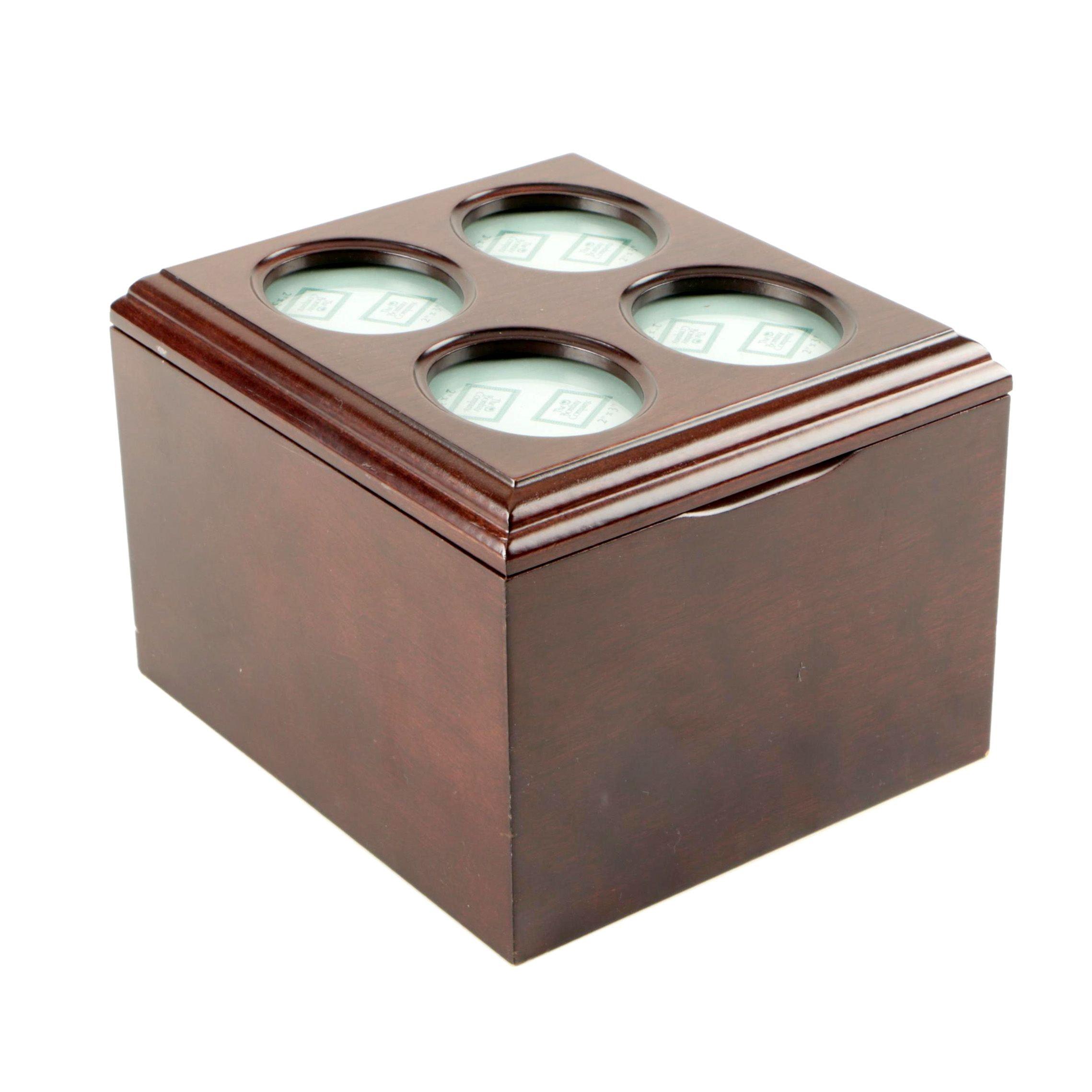 Wooden Photo Storage Box