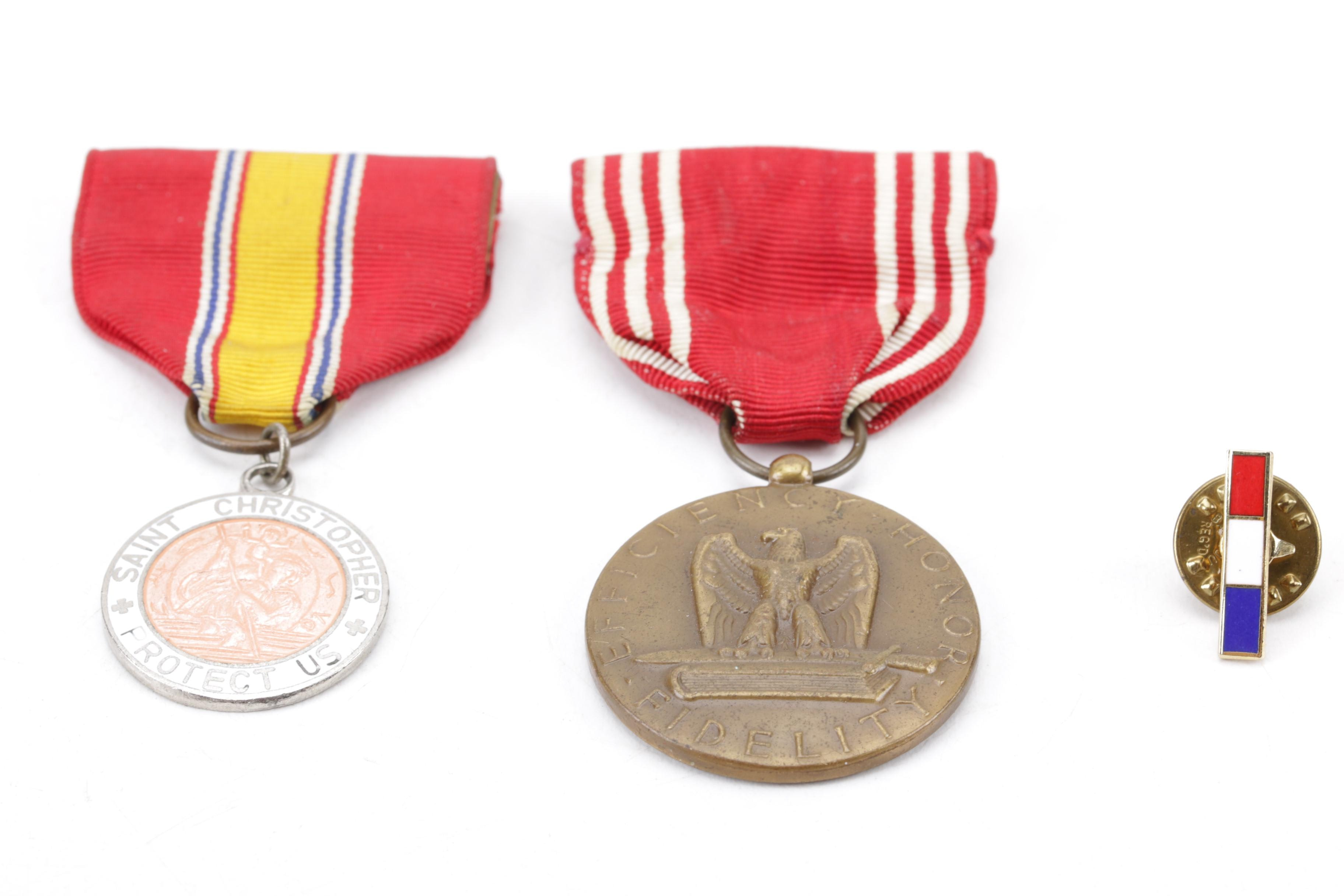 Collection of Two Medals with Service Ribbon