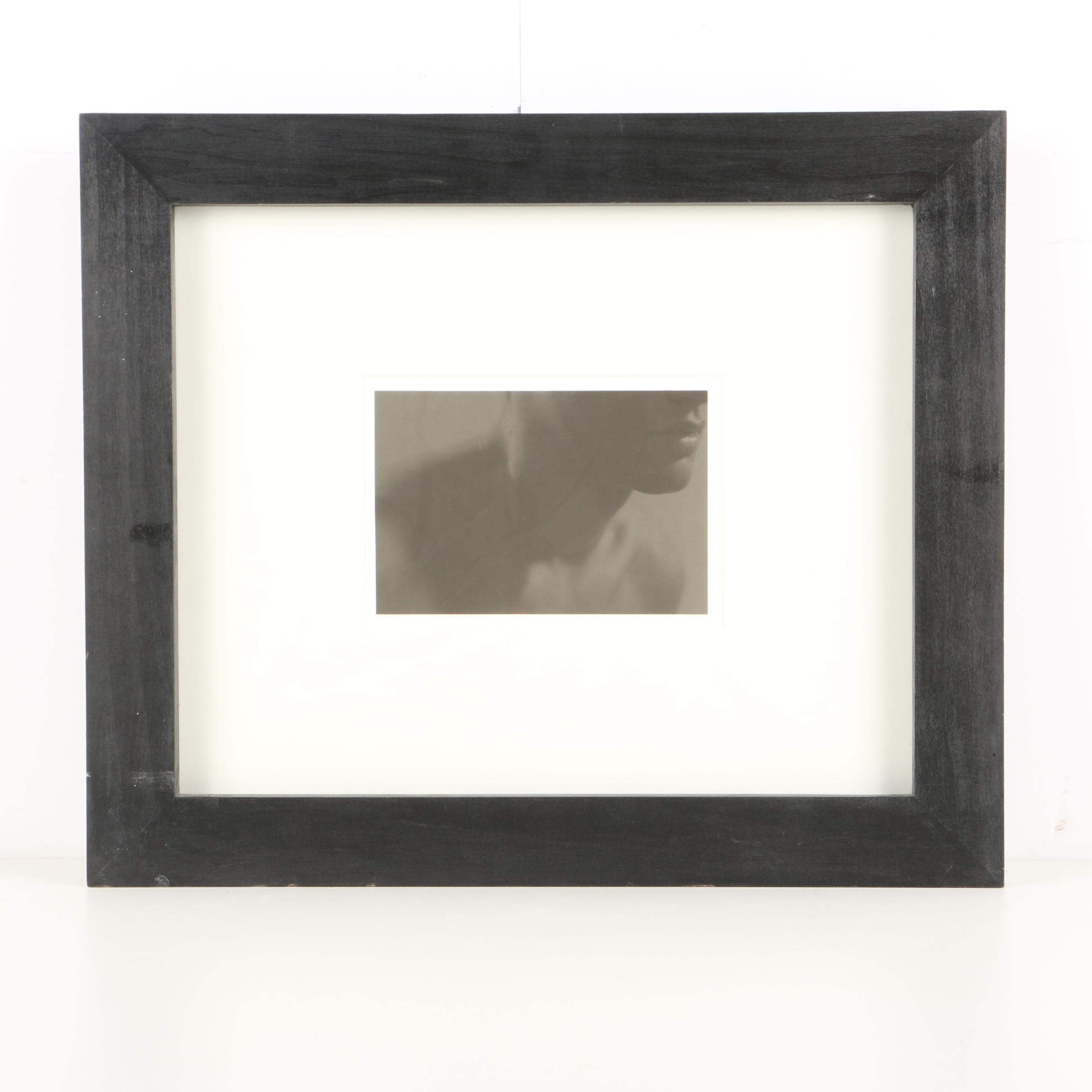 """Anderson & Low Limited Edition Gelatin Silver Photograph """"Lips (Male)"""""""