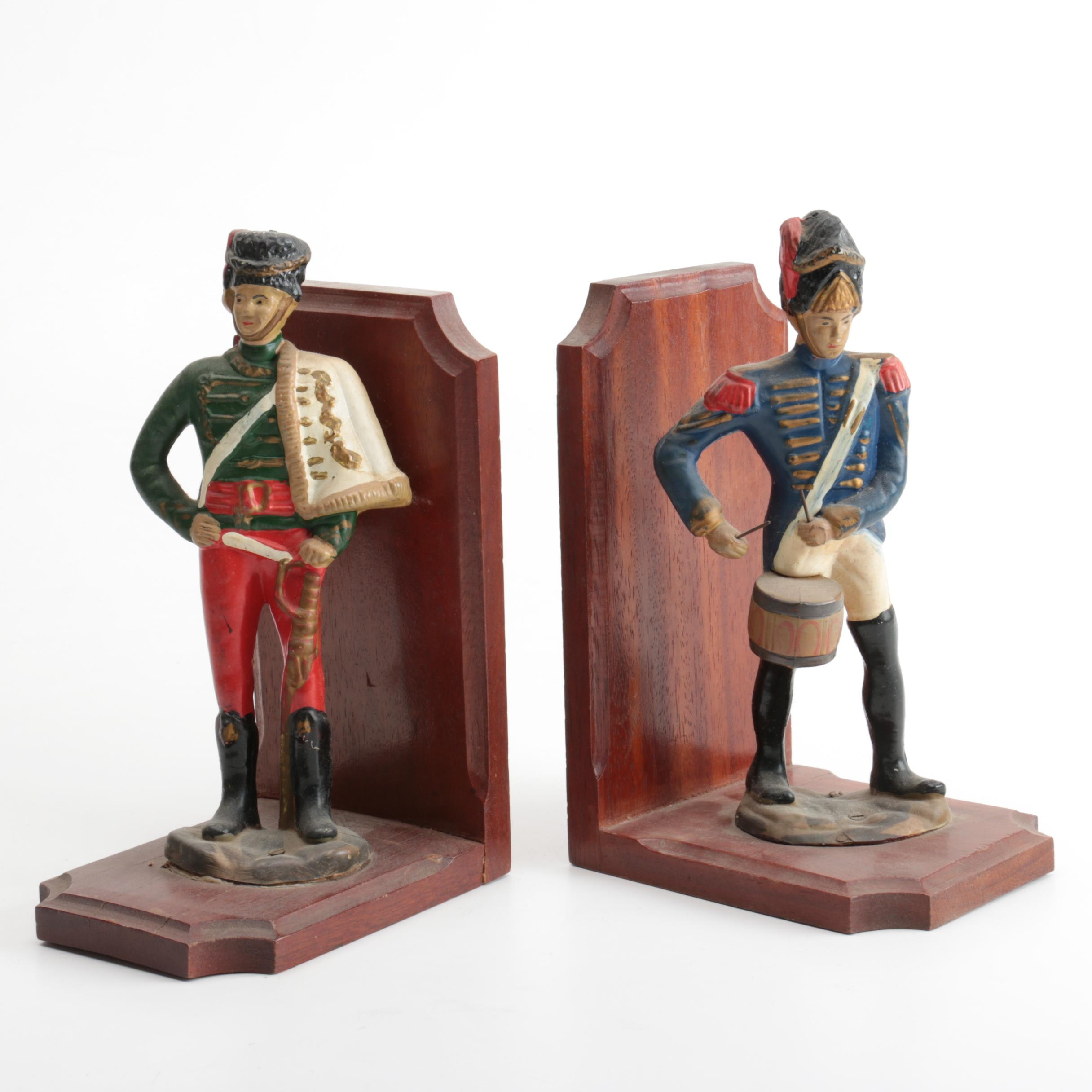 Vintage Soldier Themed Bookends