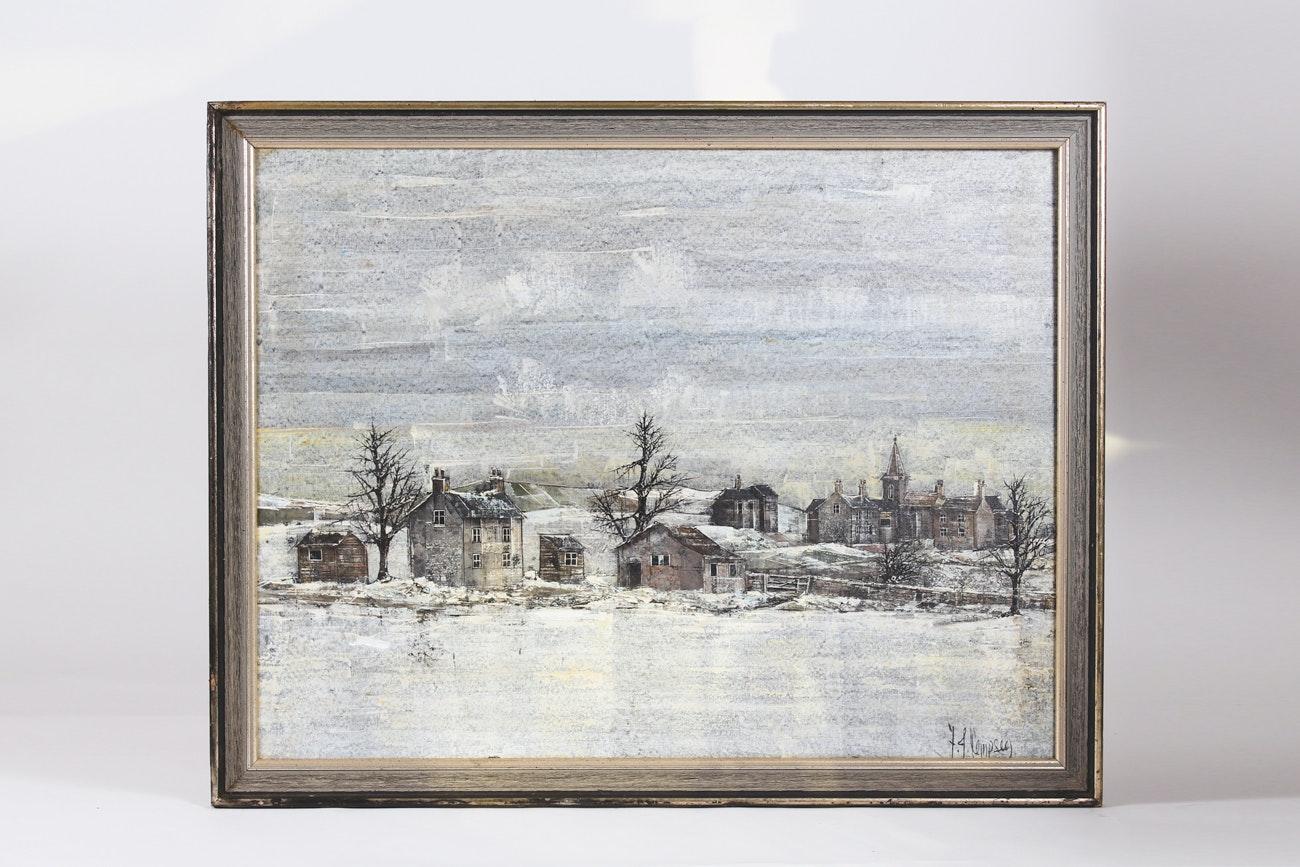 Original F.J. Dempsey Oil on Canvas Painting