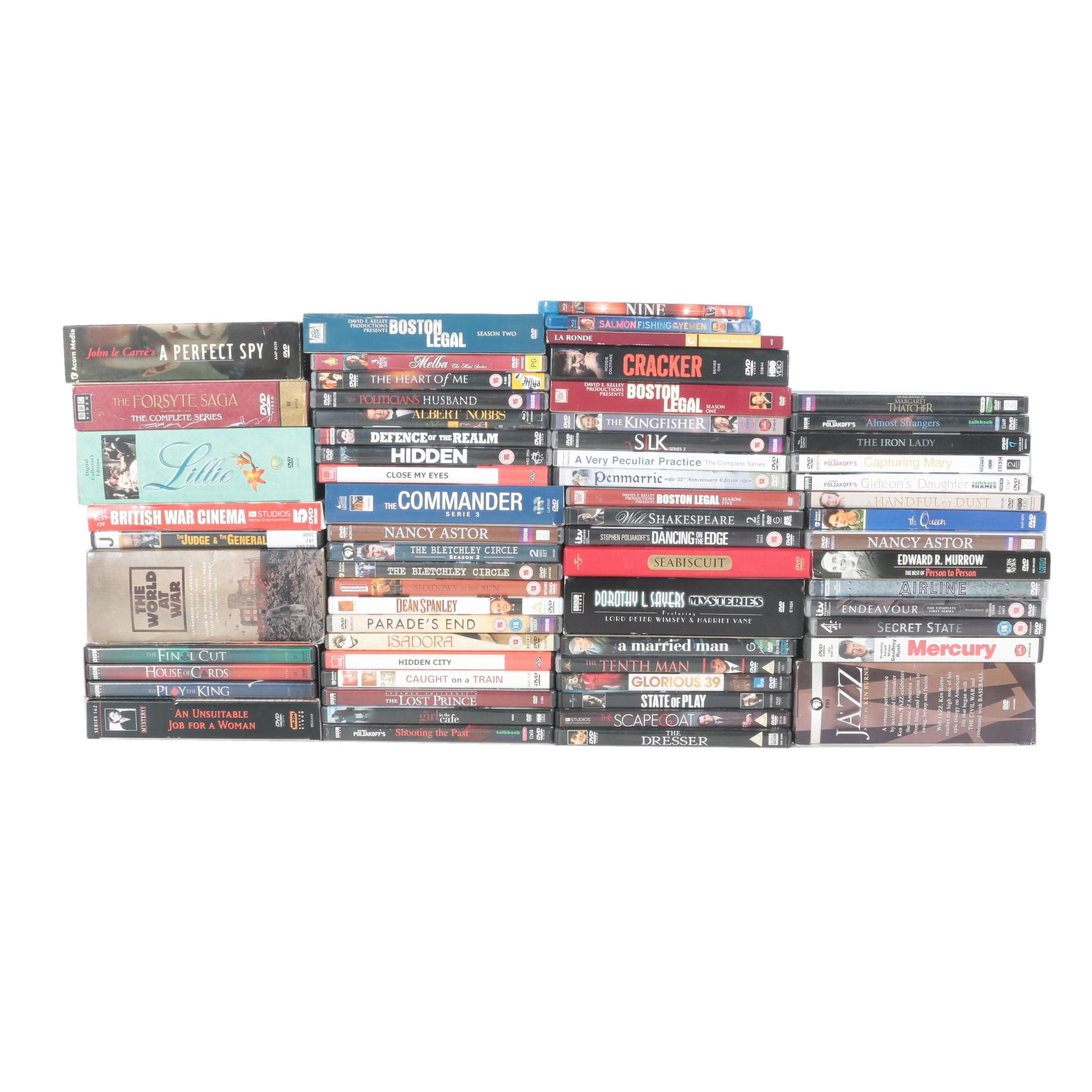 """""""Boston Legal"""", BBC """"House of Cards"""" and Other Assorted Blu Rays and DVDs"""