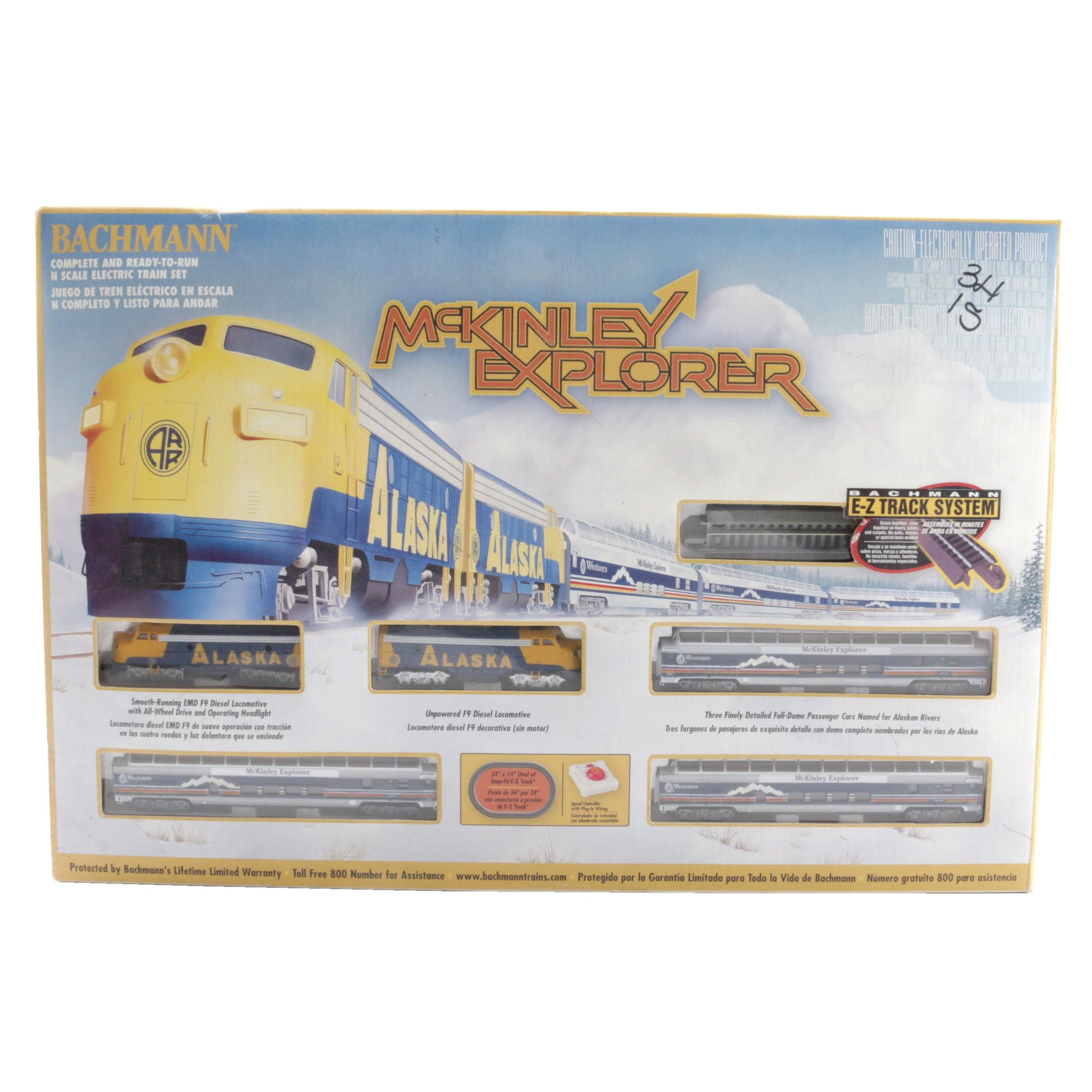 "Bachmann ""McKinley Explorer"" Train Set"