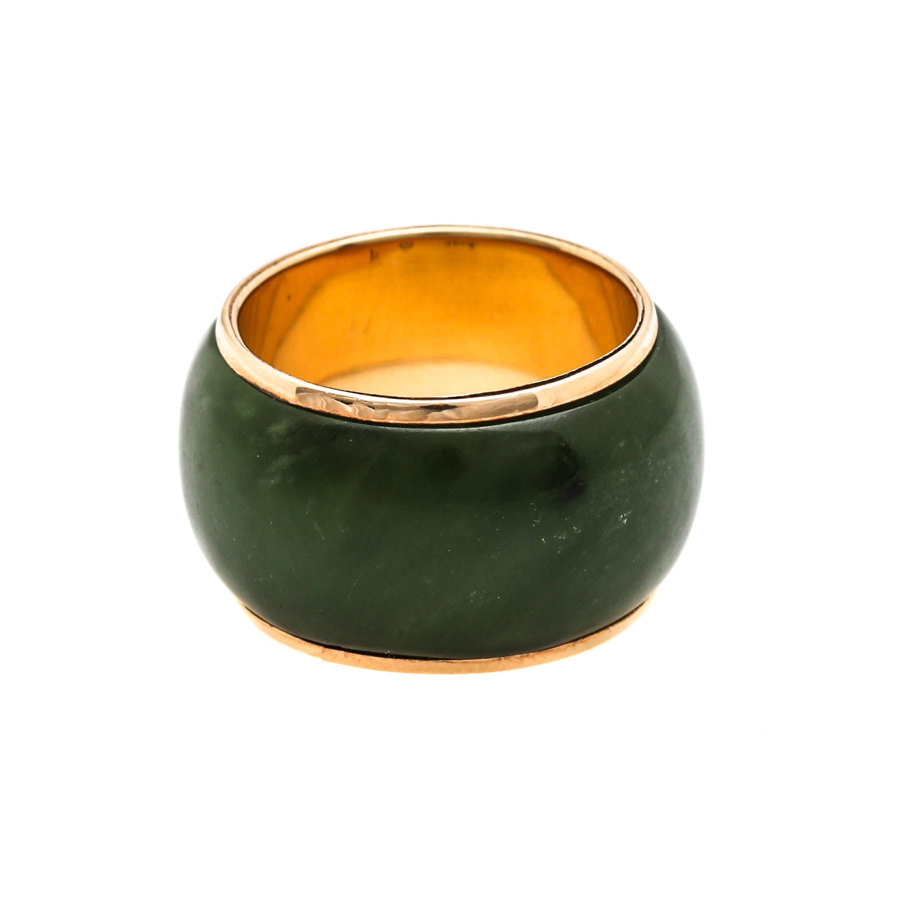 14K Yellow Gold Nephrite Ring