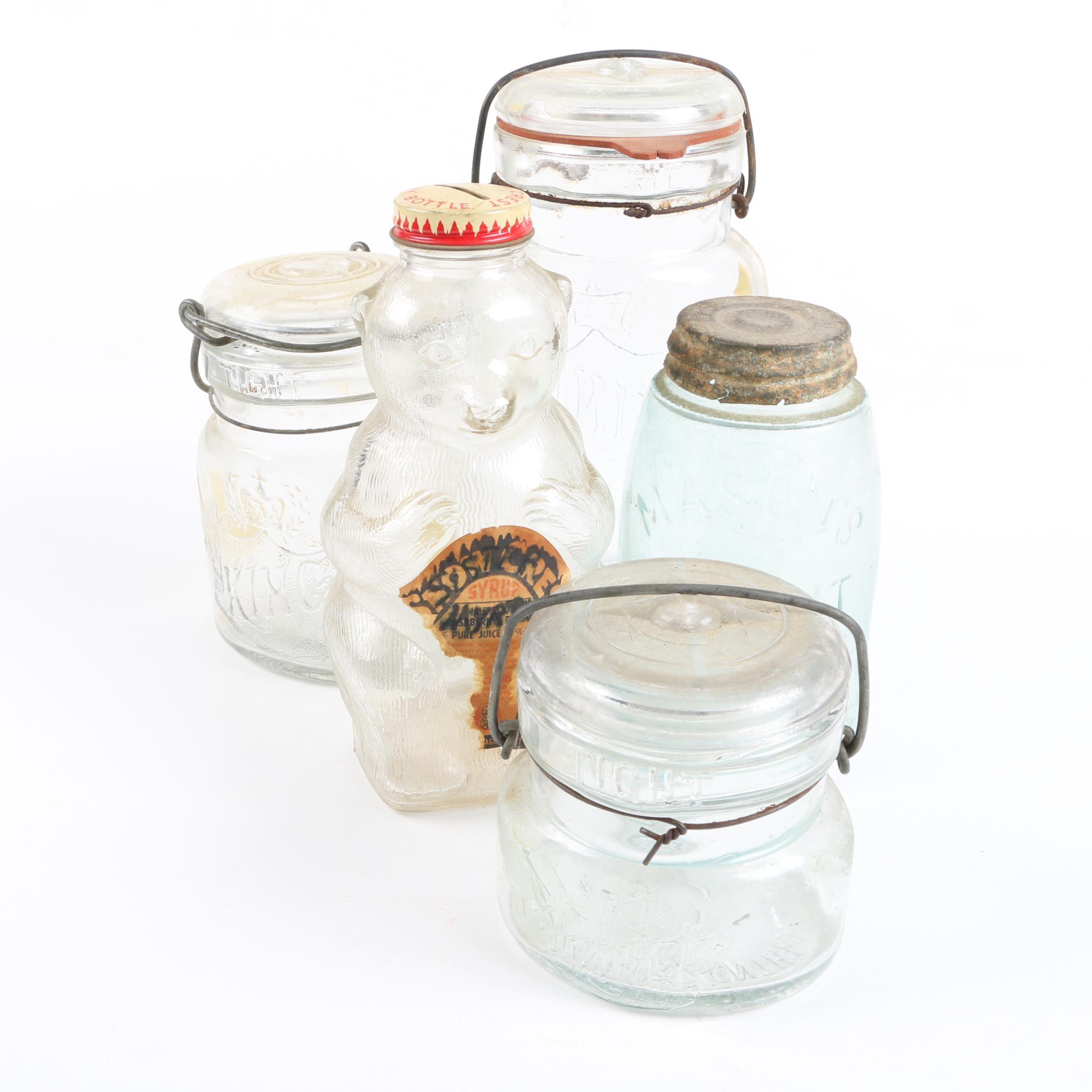 Vintage Glass Storage Jars EBTH