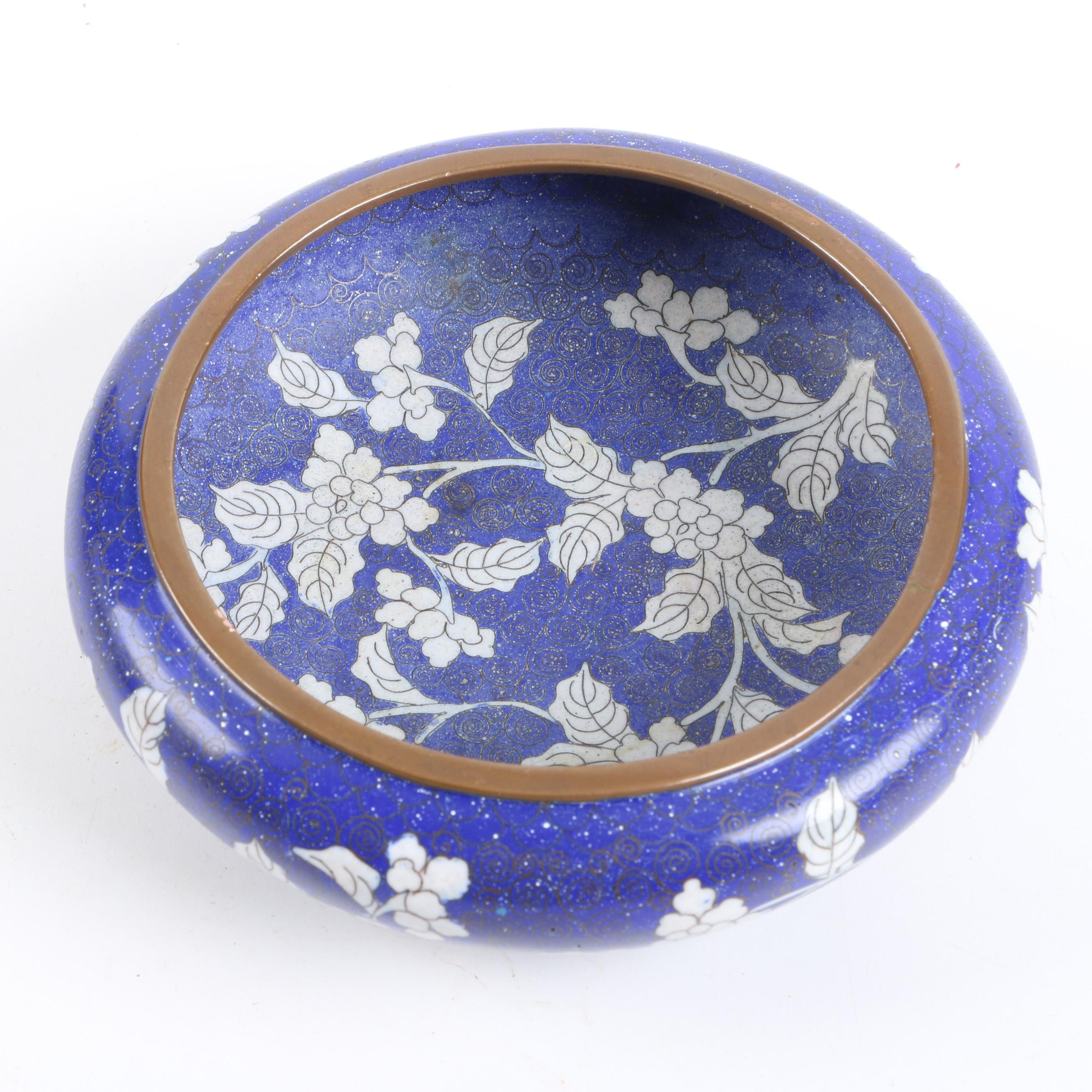 Chinese Hand-Painted Metal Bowl