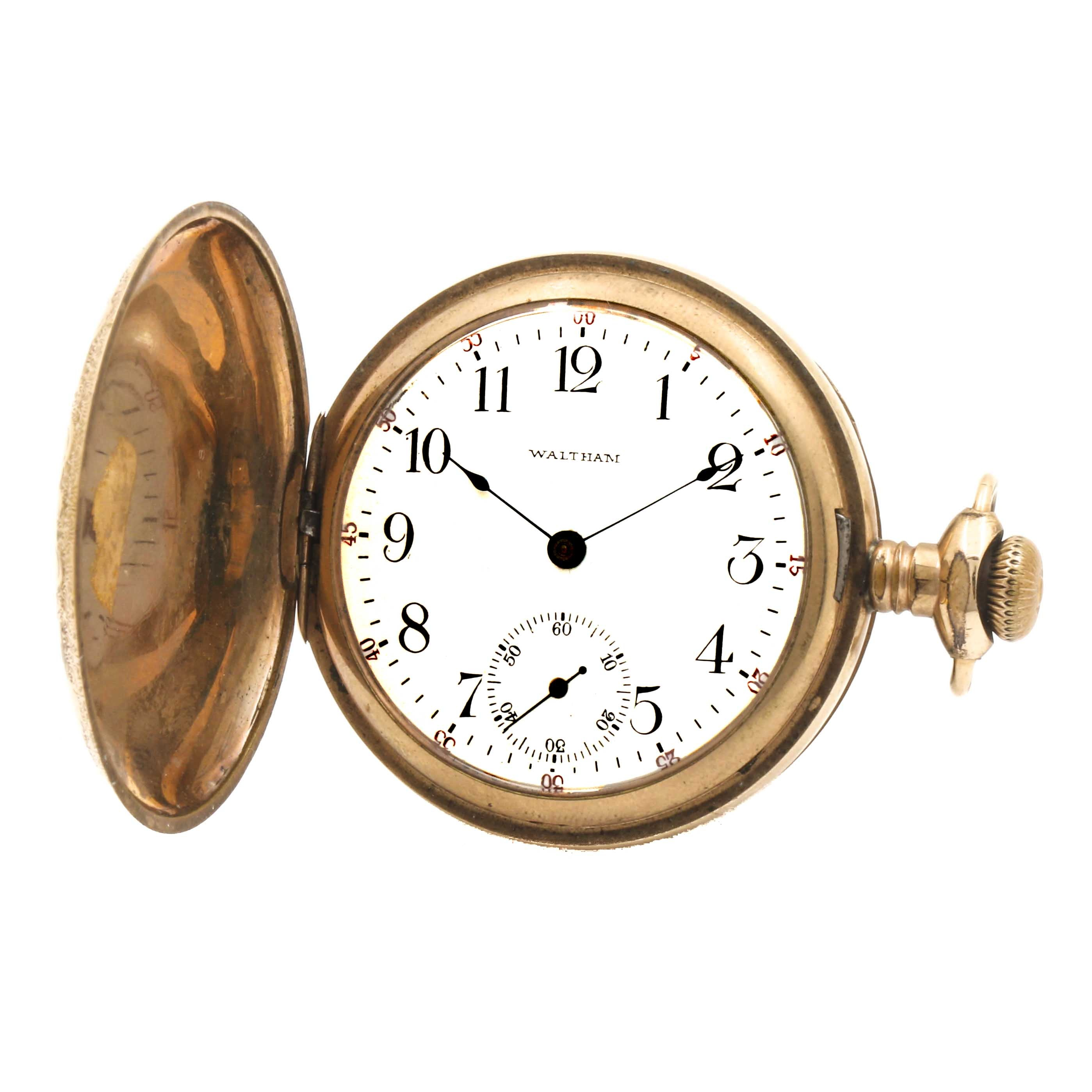 Antique Waltham Hunting Case Pocket Watch
