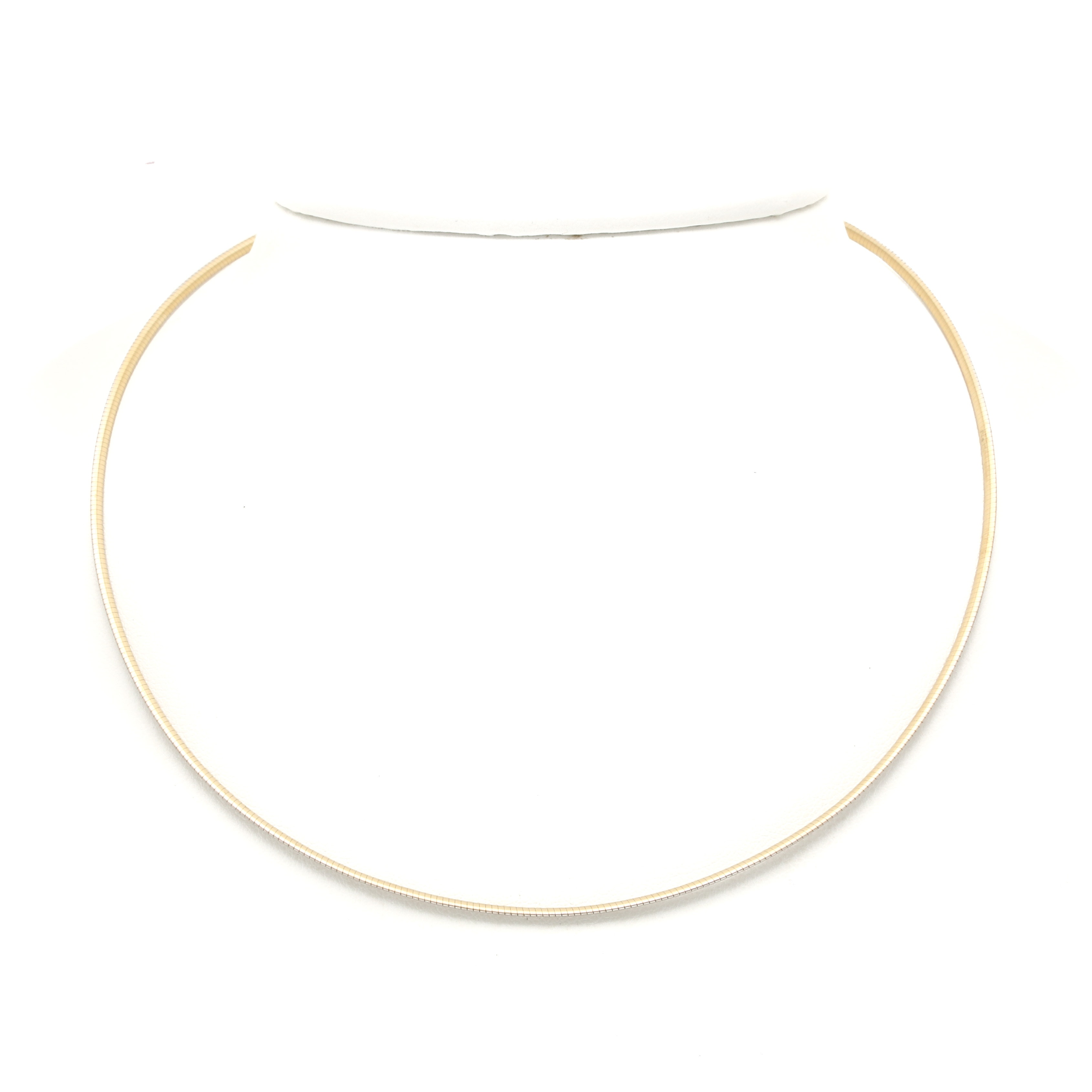 14K Two Tone Gold Reversible Necklace