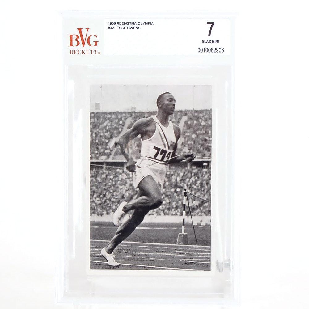 Jesse Owens 1936 Graded Card