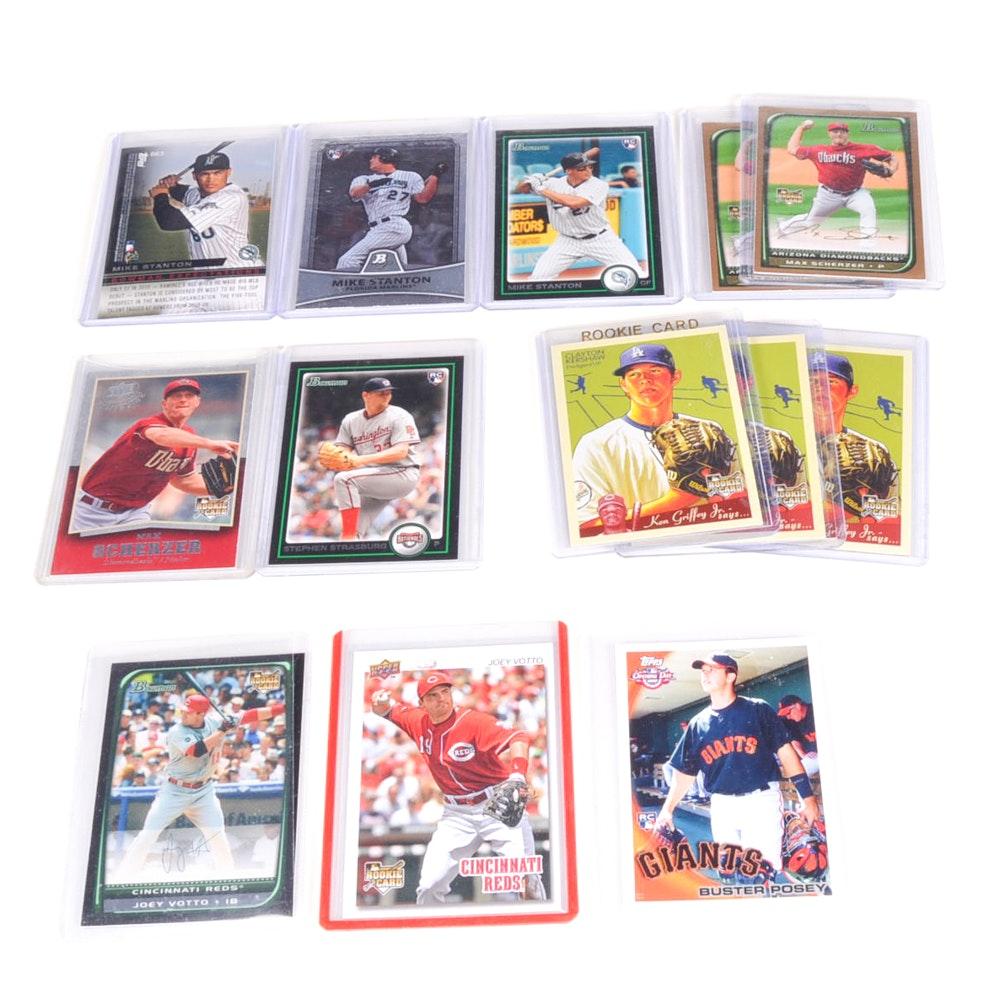 Thirteen Current Major League All-Stars Rookie Cards