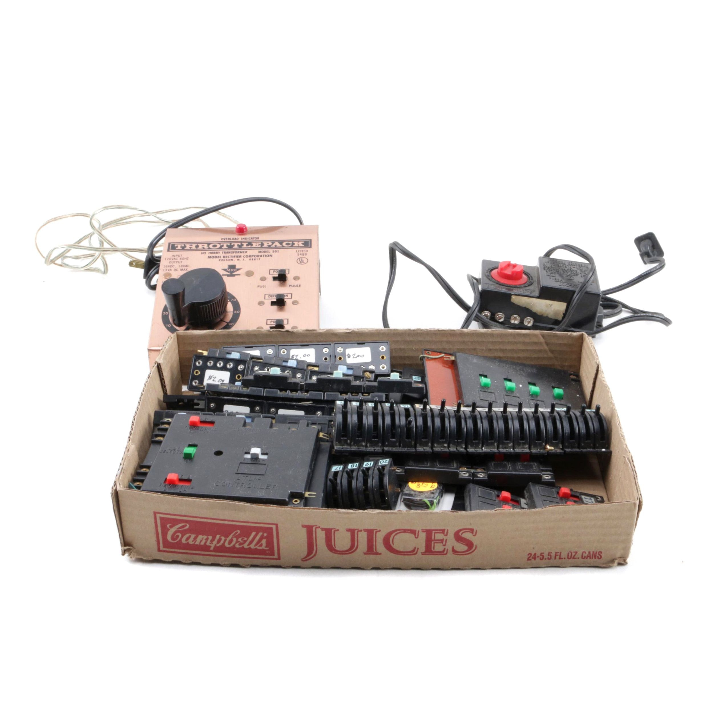 Train Accessories Including Switches and Power Packs