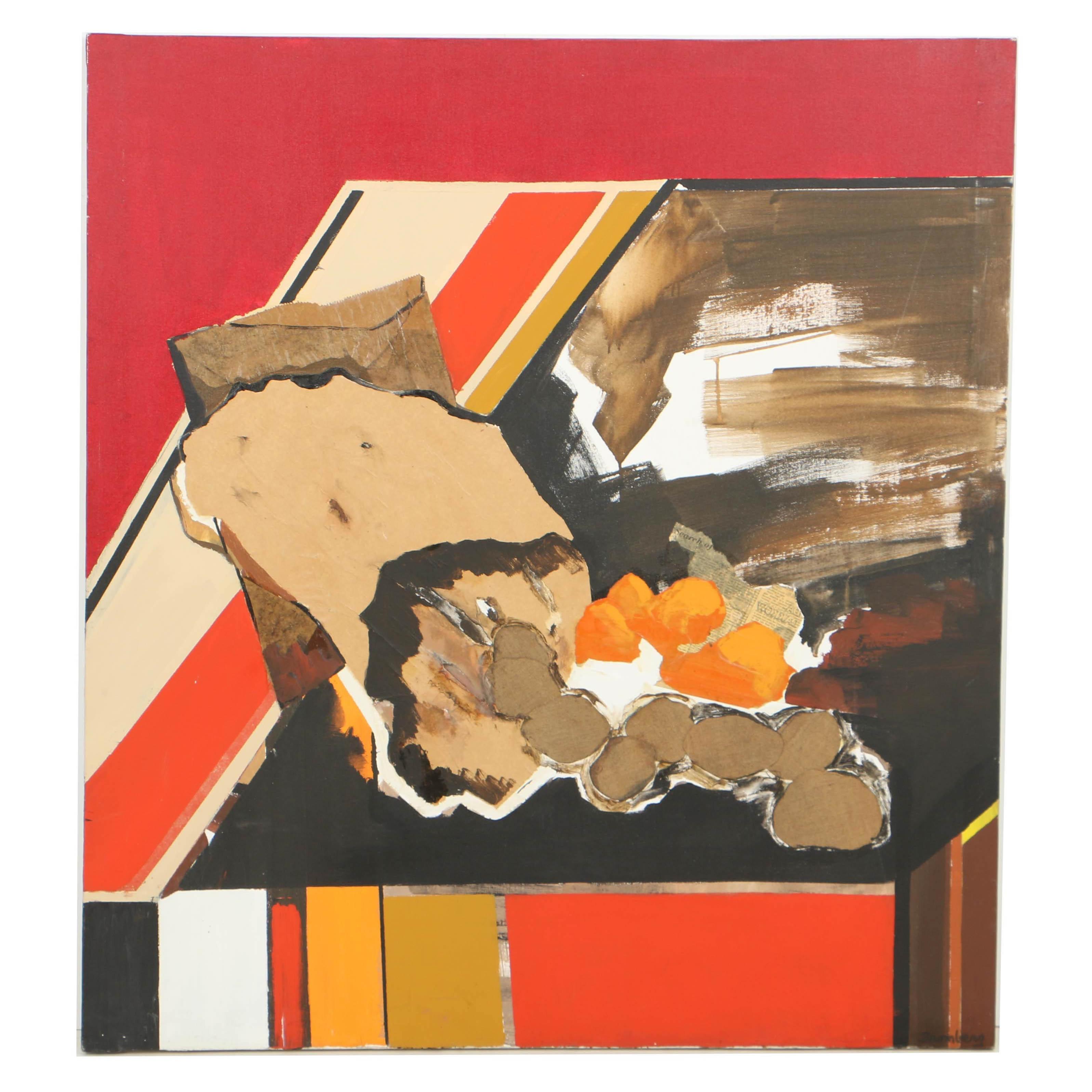 """Harriett Bromberg Mixed Media on Canvas """"Fruitful"""""""