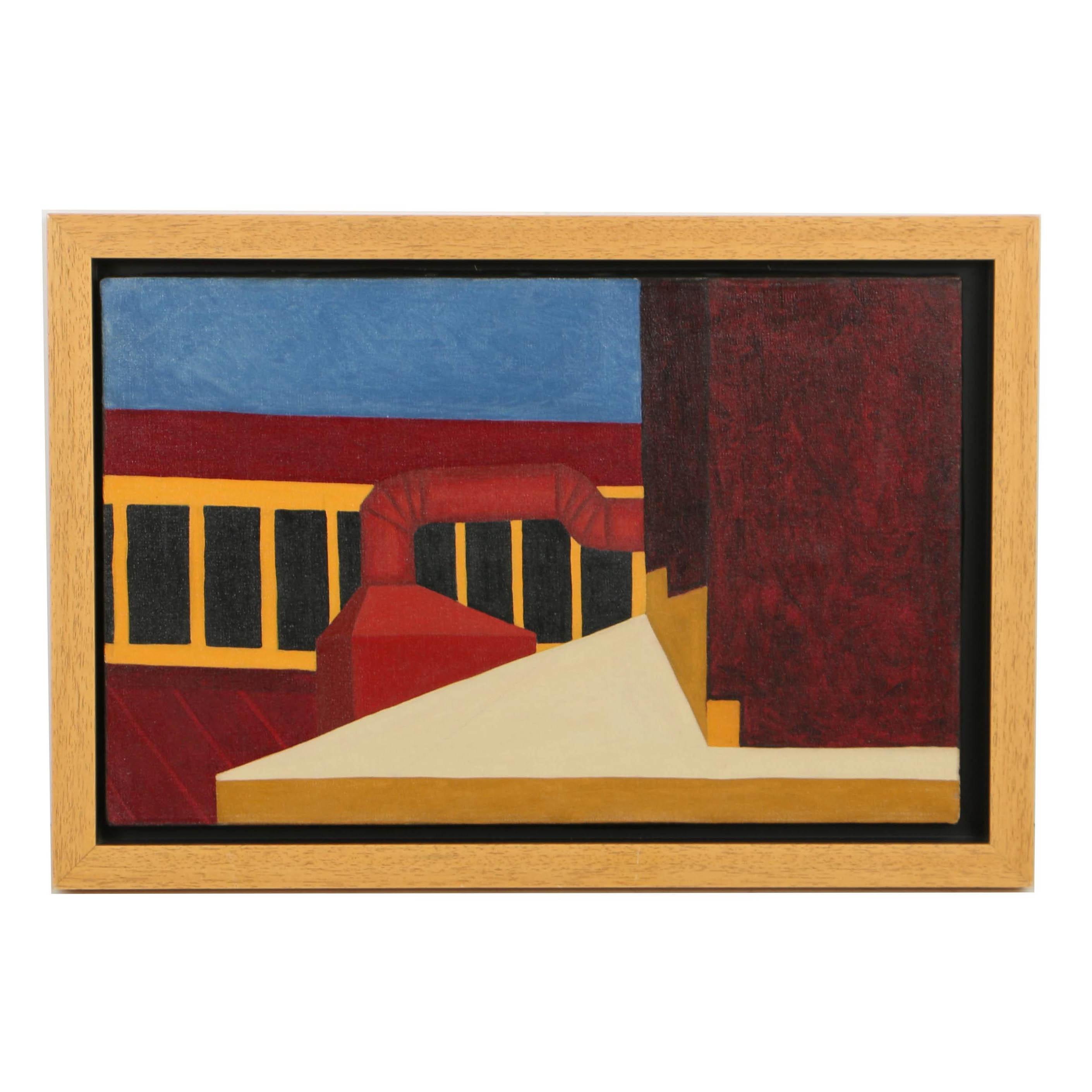 "Robert Herrmann Oil Painting on Canvas ""Orange Ventilator"""