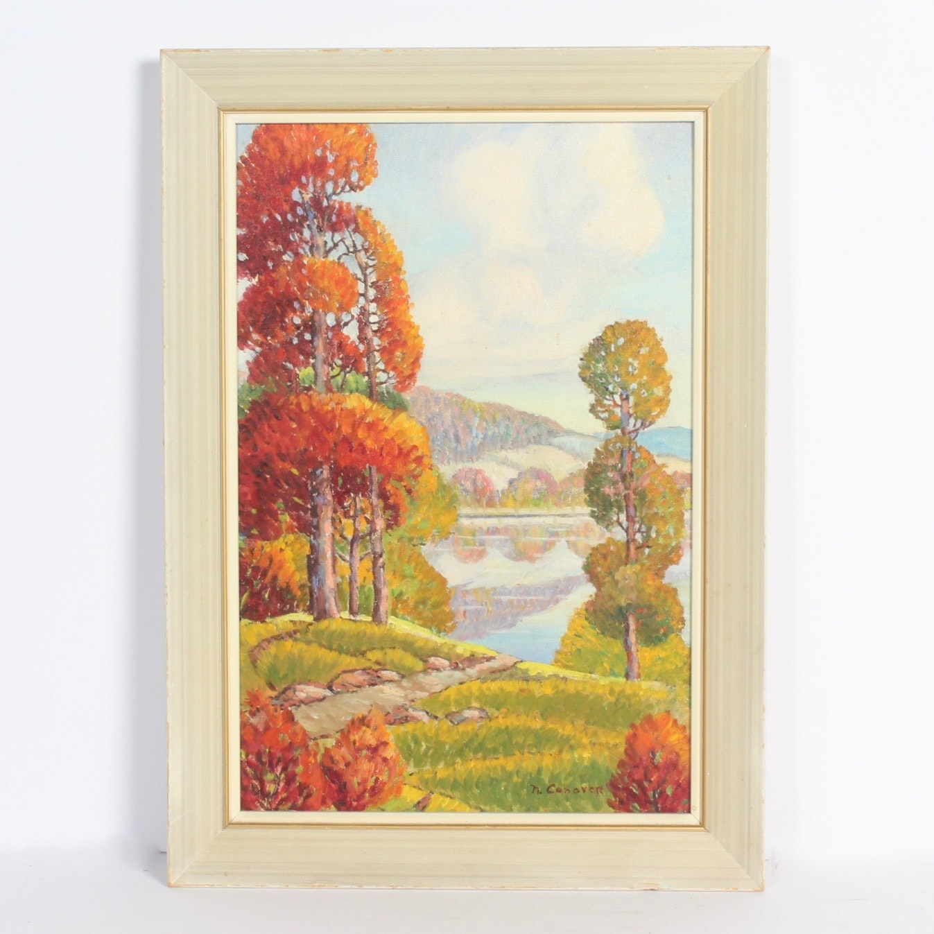 Impressionistic Fall Landscape Oil Painting