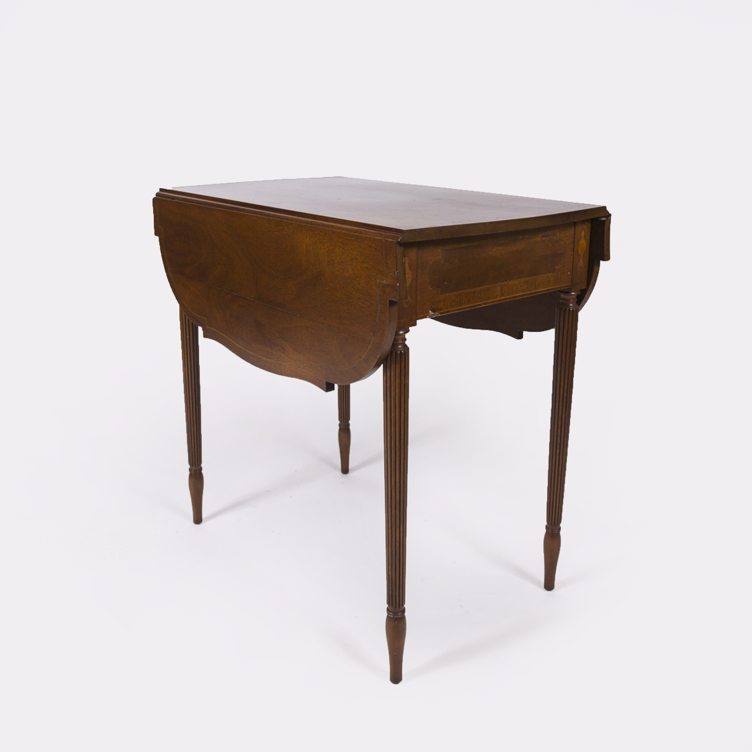 Hepplewhite Style Walnut Occasional Table with Marquetry