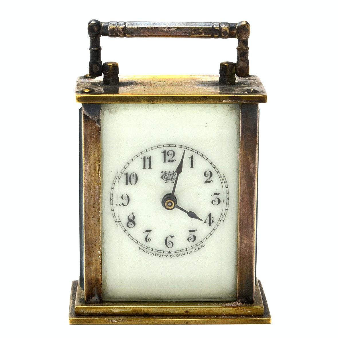Small Waterbury Carriage Clock