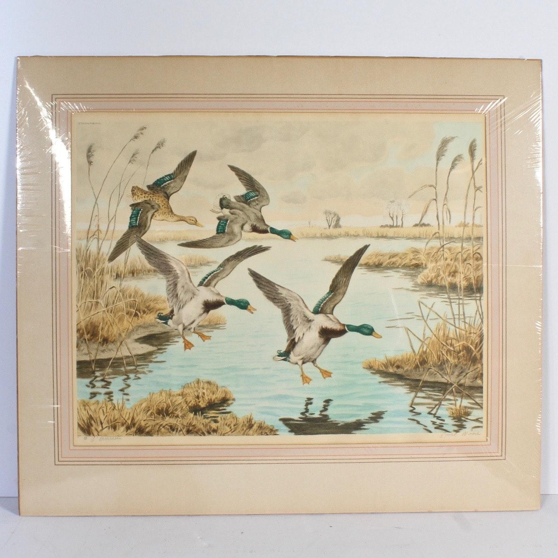 "Paul Wood Etching with Aquatint ""L'Arrivee"""