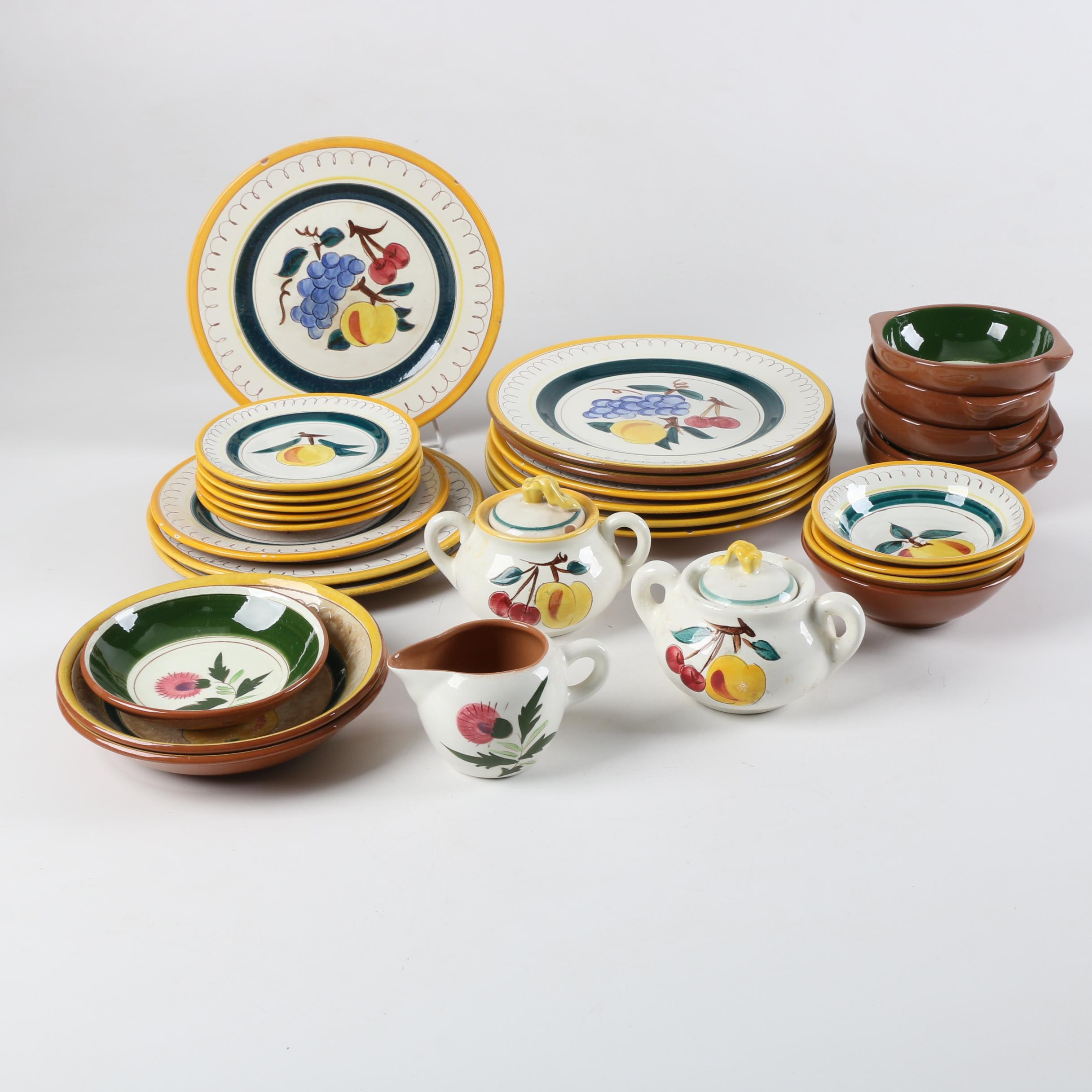 "Stangl Pottery ""Fruit"" and ""Thistle"" Tableware"
