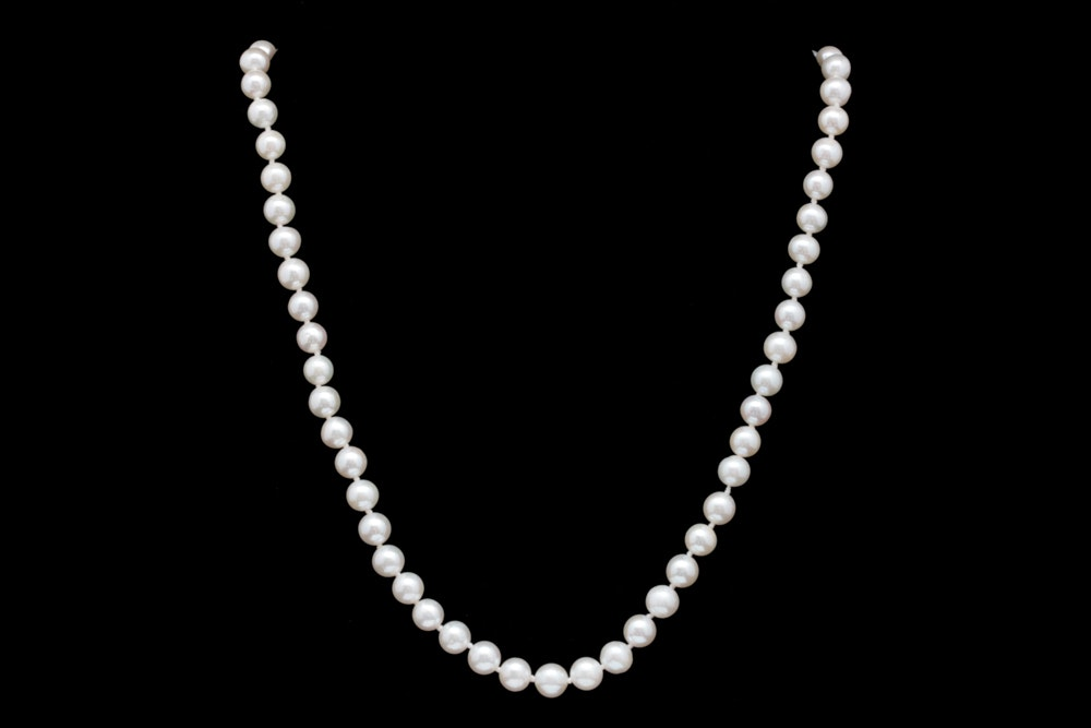 14K White Gold and Freshwater Pearl Necklace