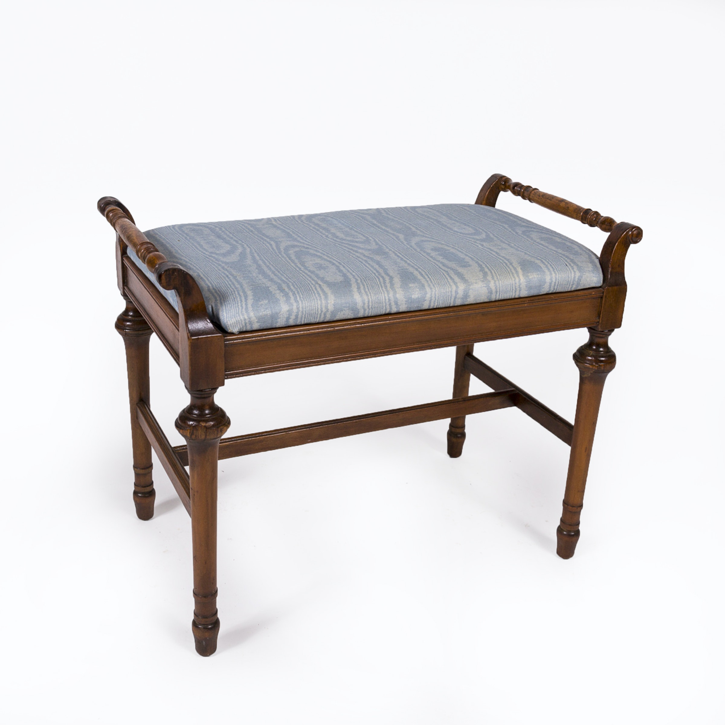 Victorian Style Mahogany Stained Bench