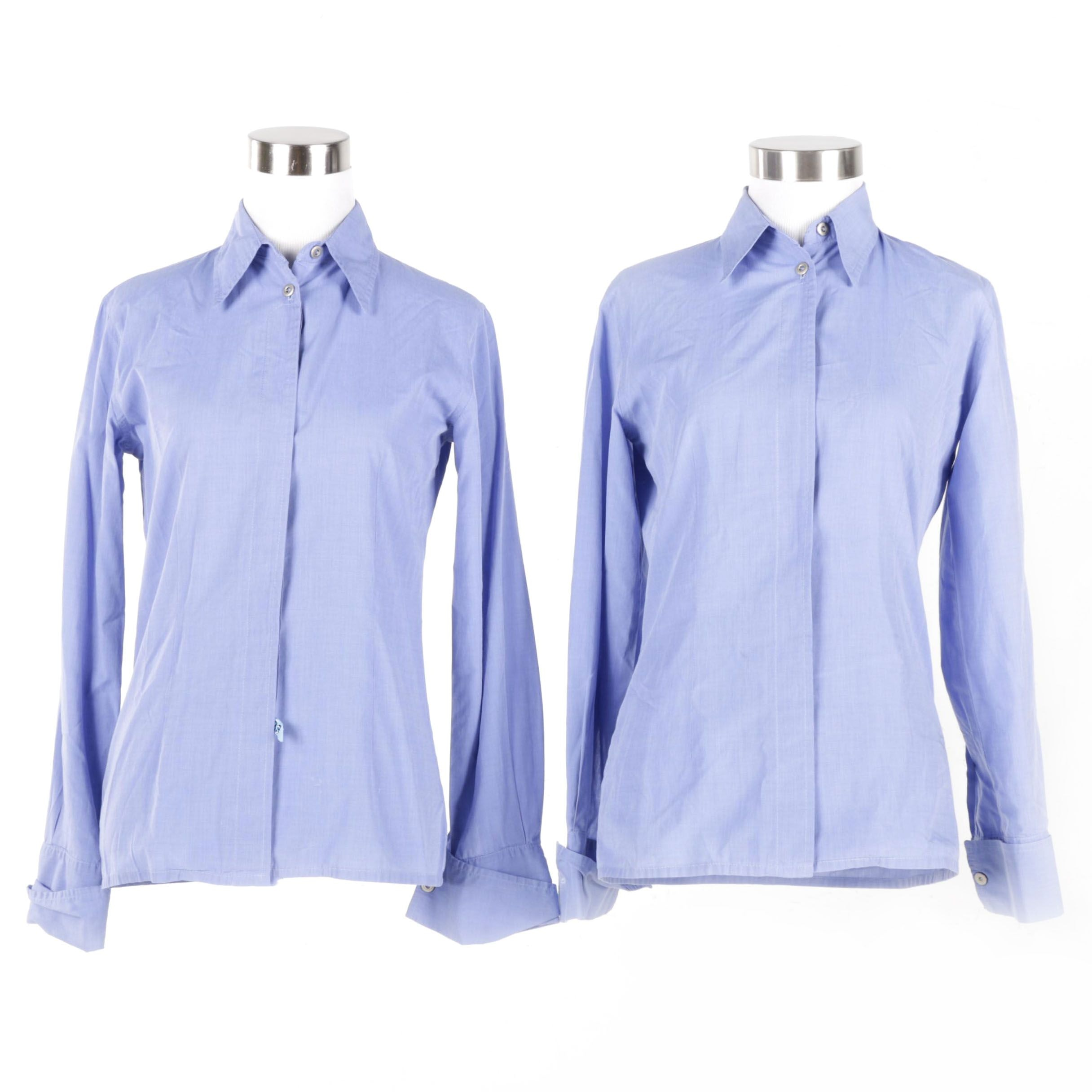 Women's Chambray Button Down Shirts by Promod