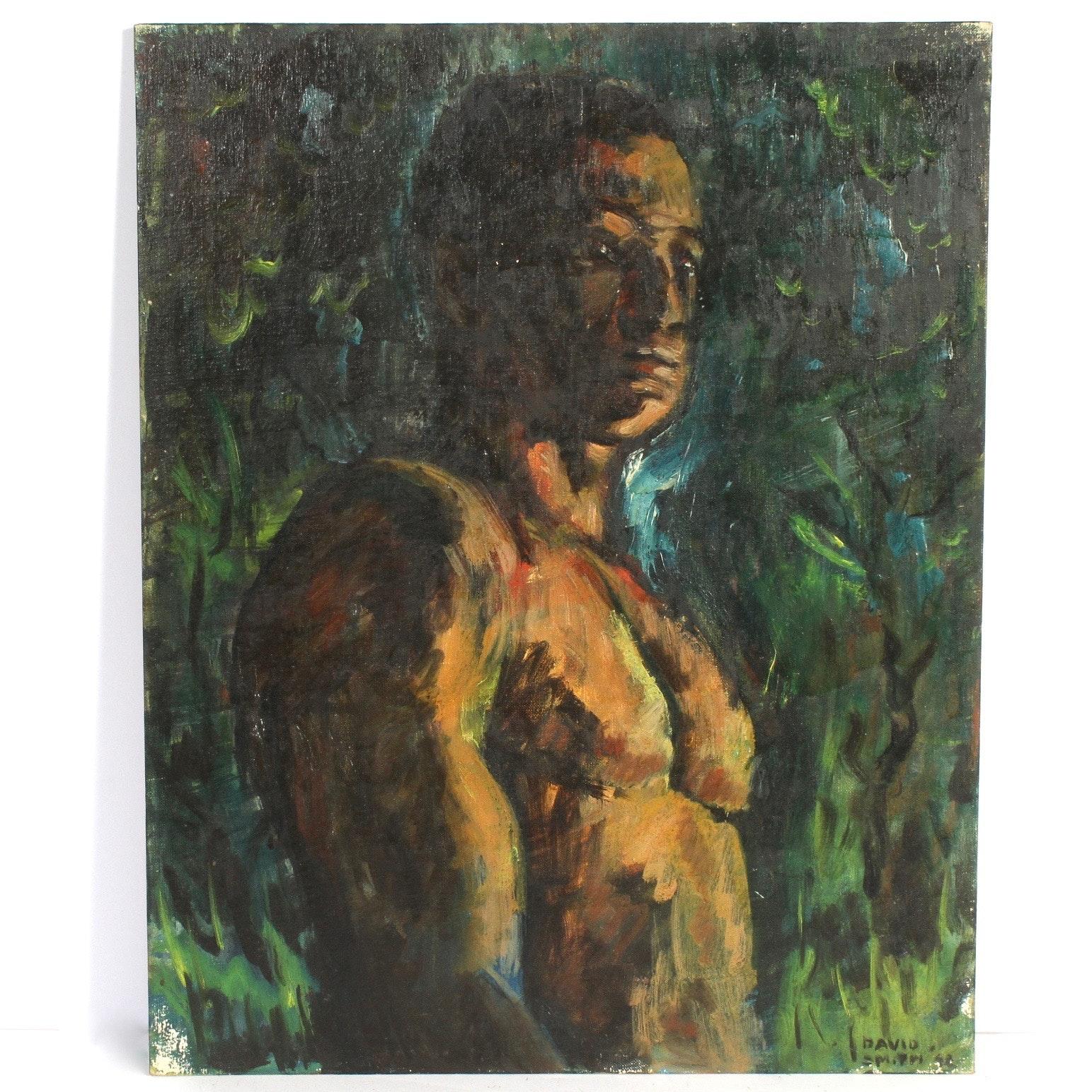 """David L. Smith Oil Portrait Painting """"#39"""""""
