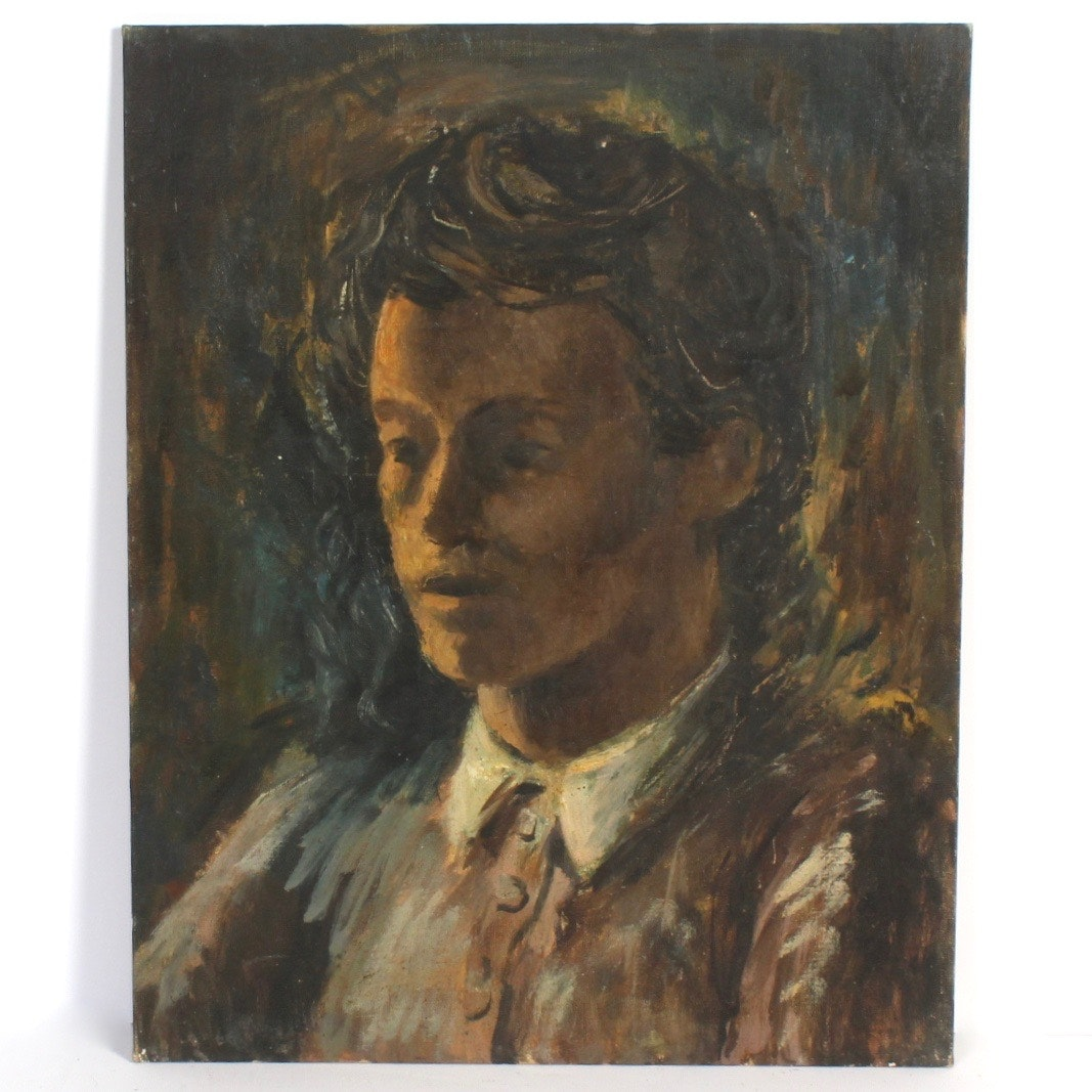 """David L. Smith Oil Painting """"Young Girl 42"""""""