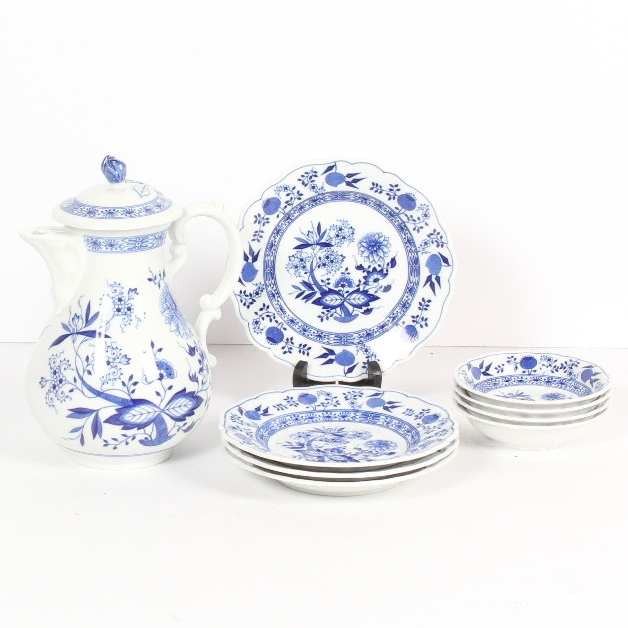 German Blue and White Porcelain