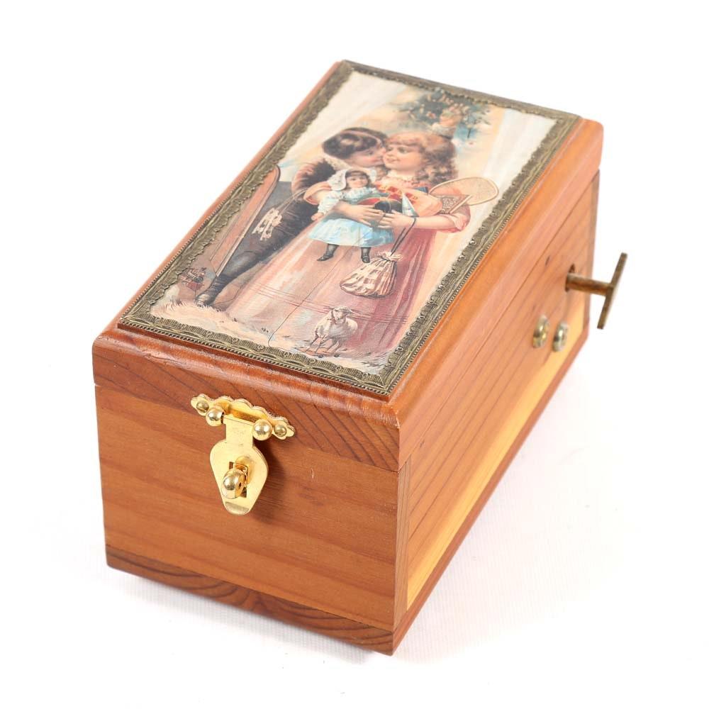 Handcrafted Christmas Music Box