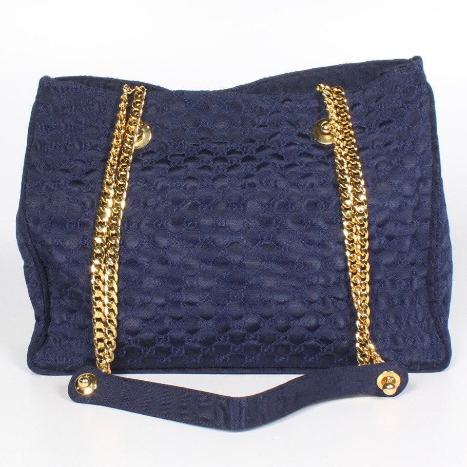 Gucci Signature Fabric Handbag