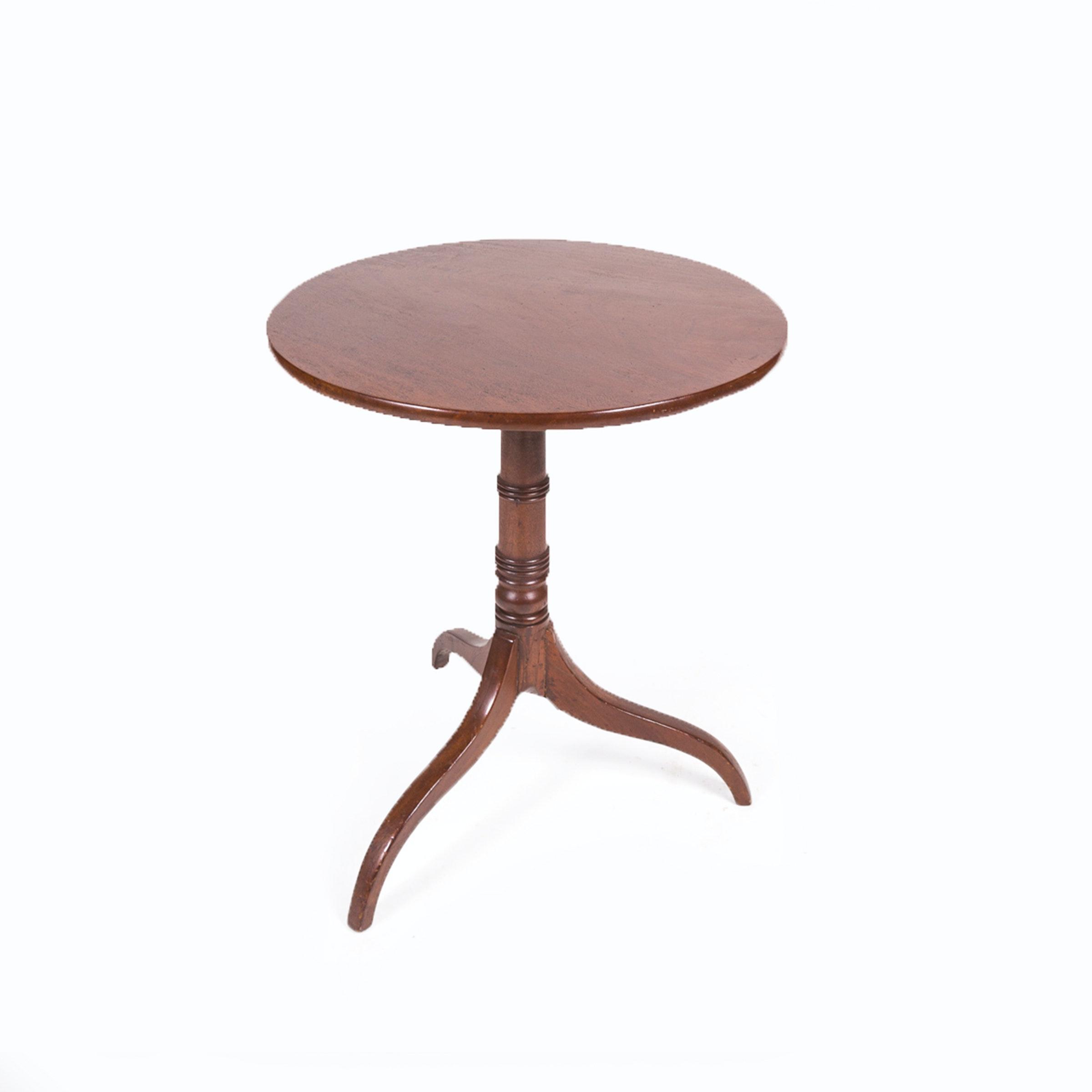 Antique English Mahogany Tilt-Top Table