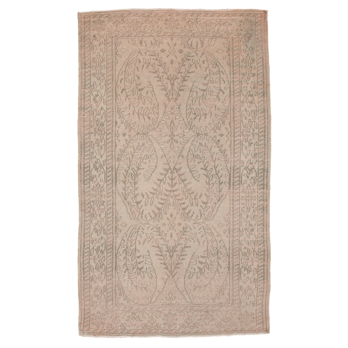 Semi-Antique Hand-Knotted Turkish Oushak Area Rug