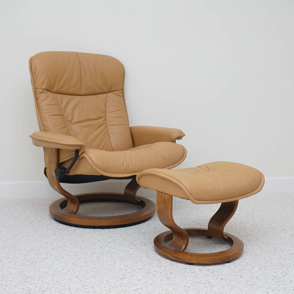 "Ekornes ""Stressless"" Chair and Ottoman"