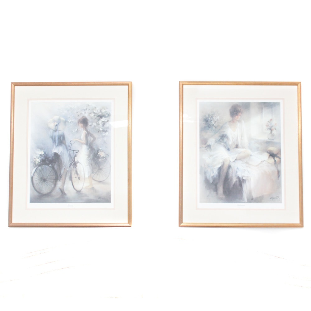 Pair of Framed Offset Lithographs by Willem Haenraets
