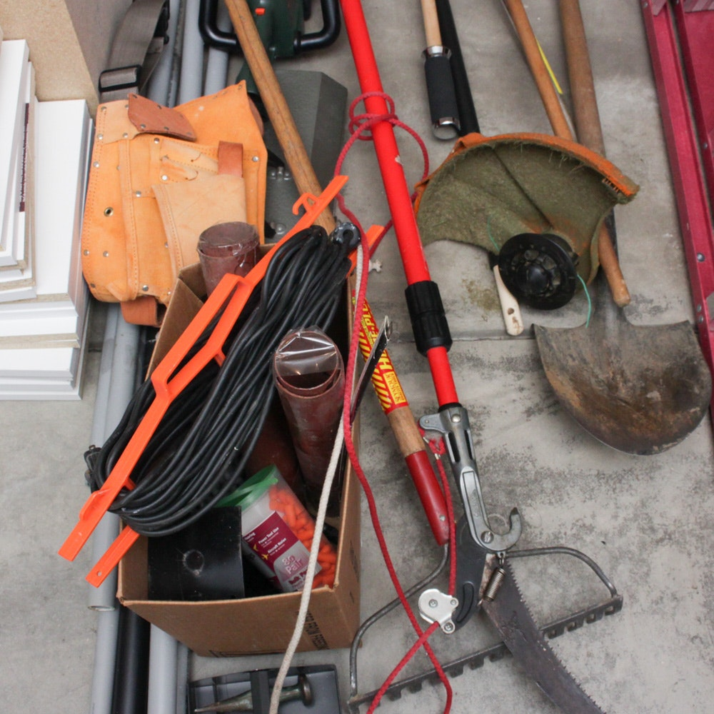 Assorted Household Maintenance Tools Featuring Craftsman