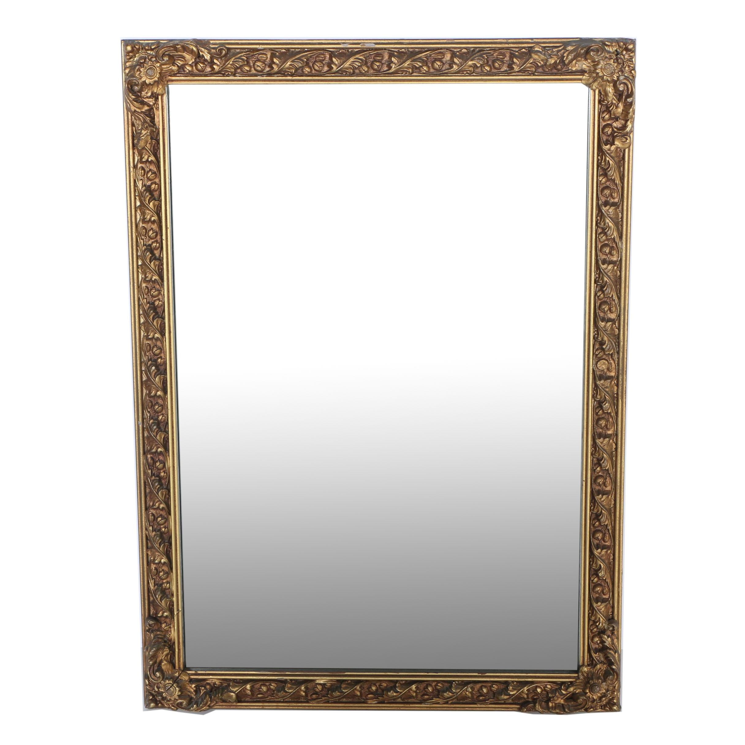 Ornately Framed Gold Toned Wall Mirror